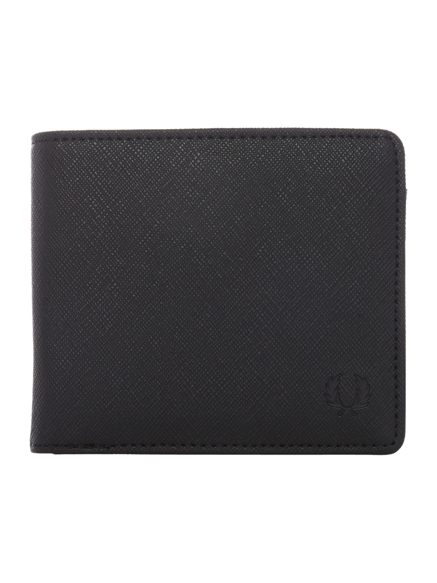 Fred Perry Saffiano Billfold Wallet, Black