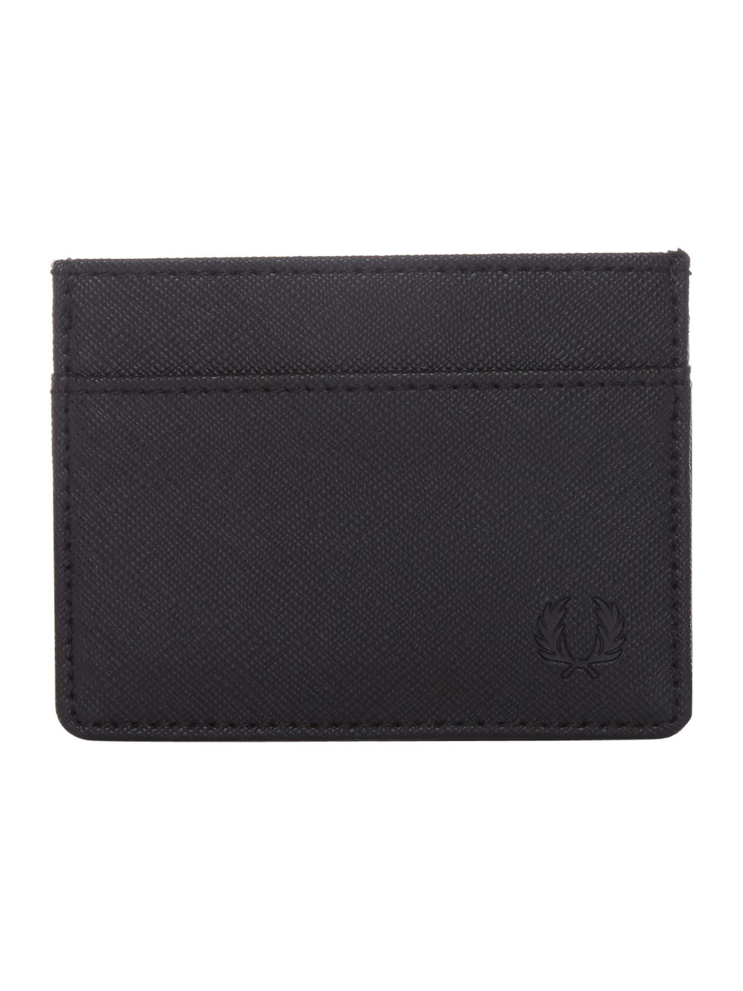 Fred Perry Saffiano Card Holder, Black