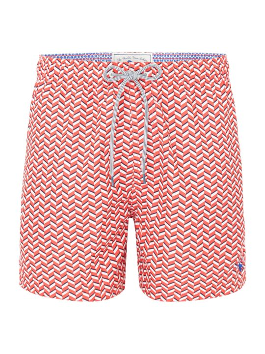 Ted Baker Caven Rectangle Geo Print Swim Shorts