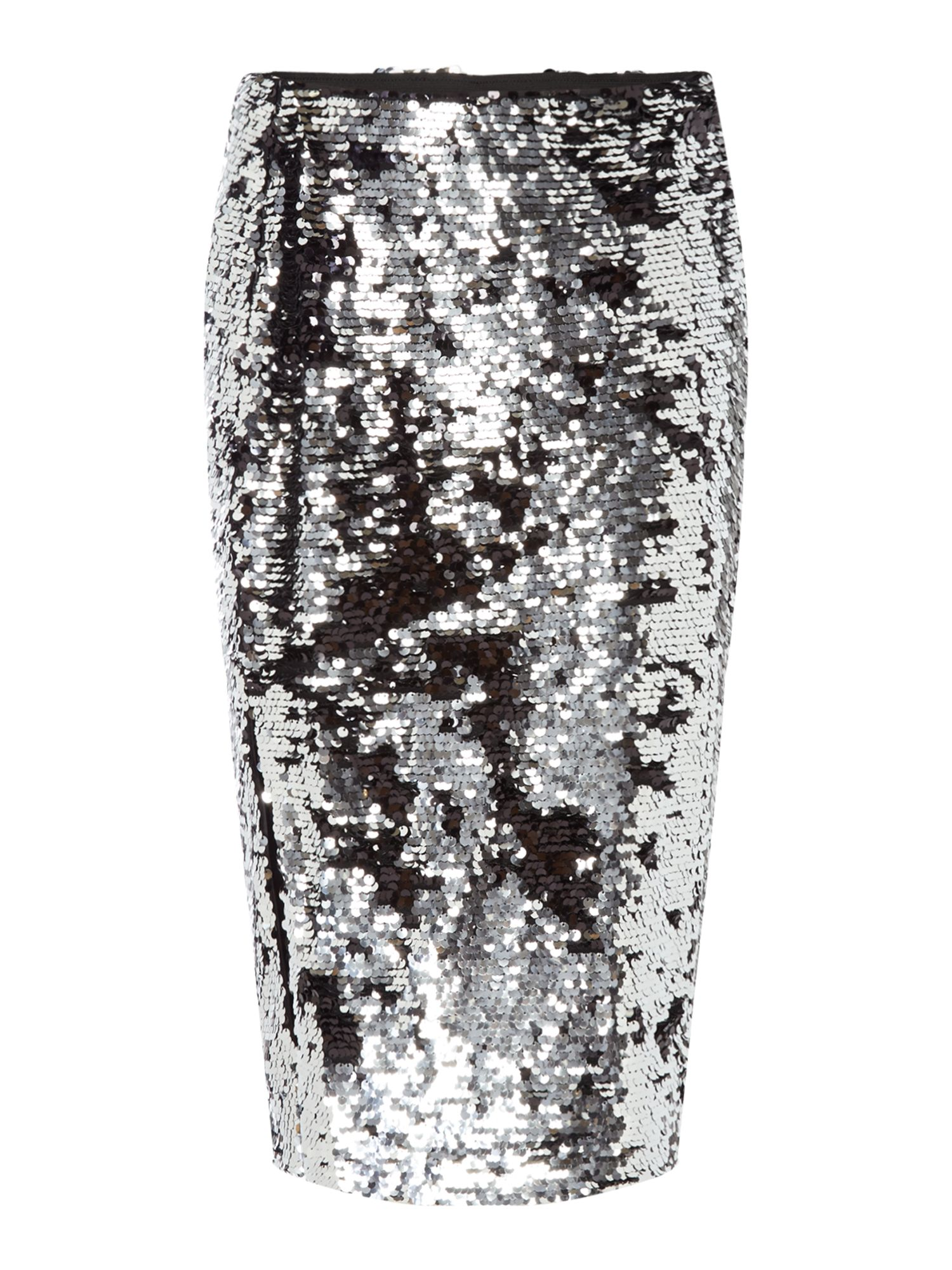 Samsoe and Samsoe Kellis sequin skirt, Silver