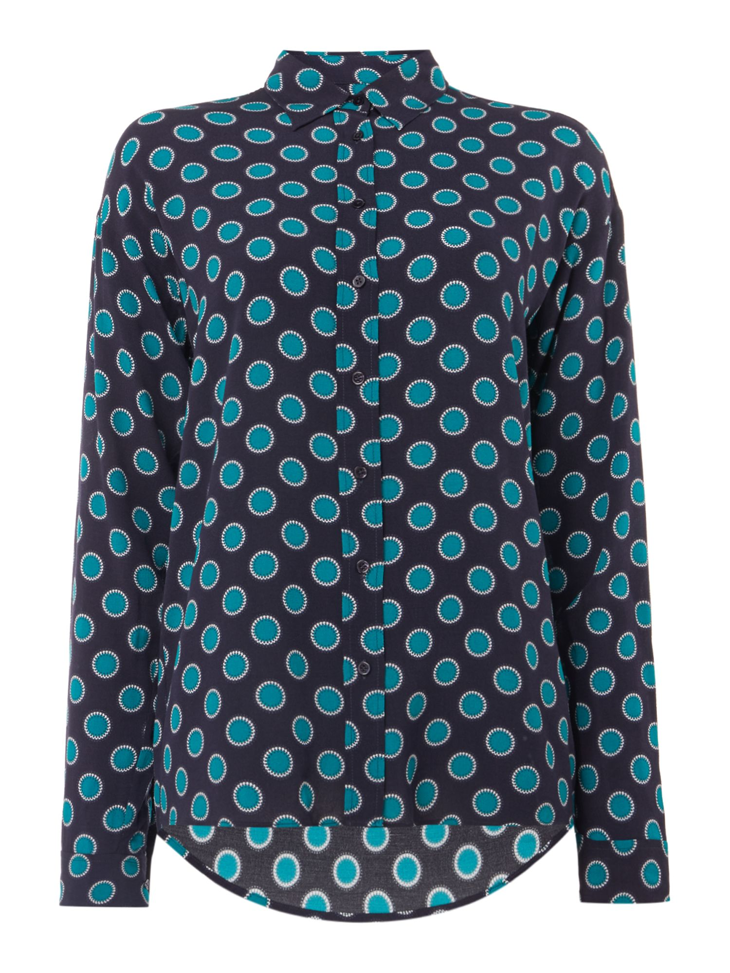 GANT Relaxed Fit Shirt In Large Misty Dot Print Shirt, Blue