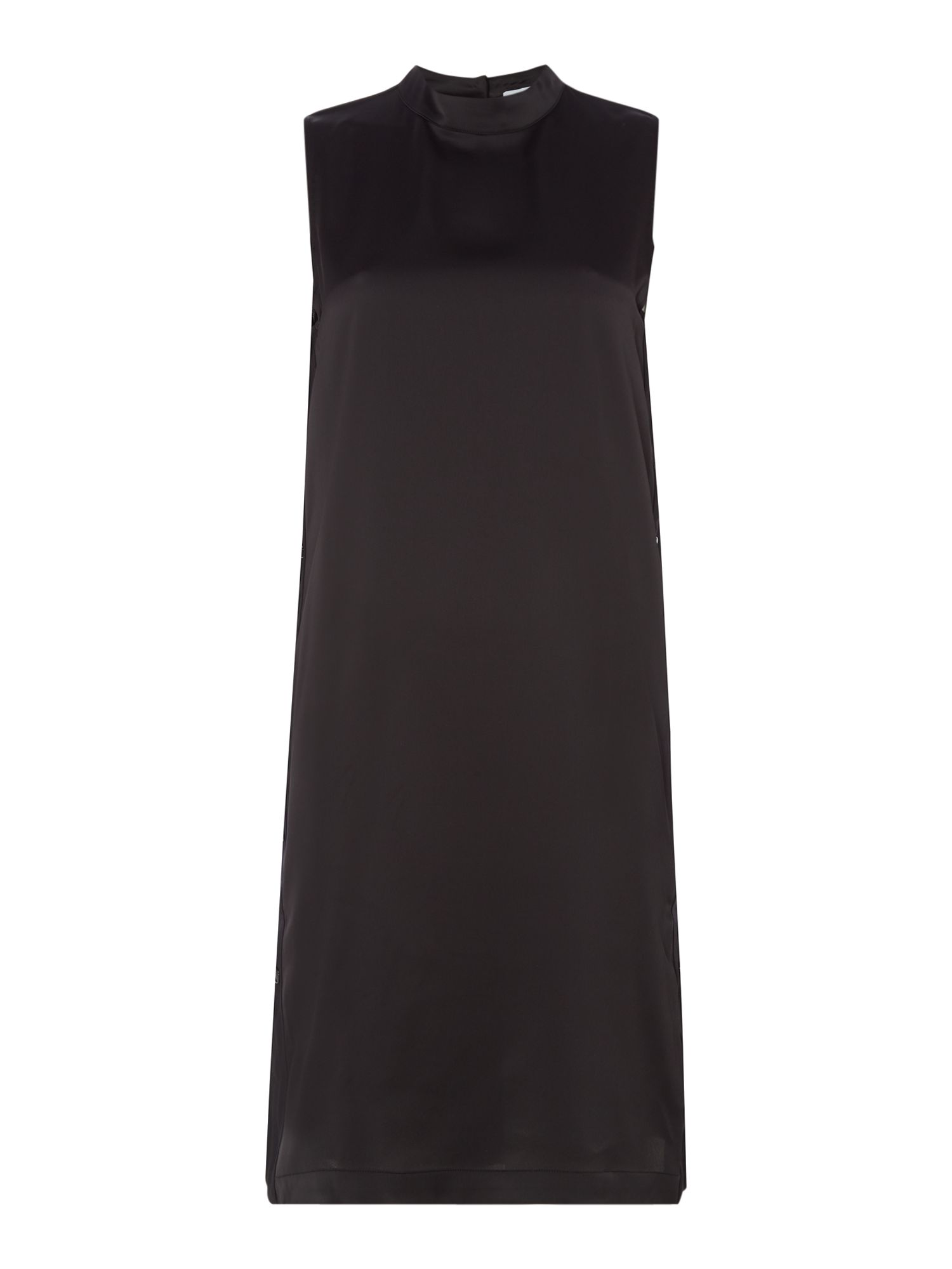 Samsoe and Samsoe lARA SLEEVELESS DRESS WITH SIDE BUTTONS, Black