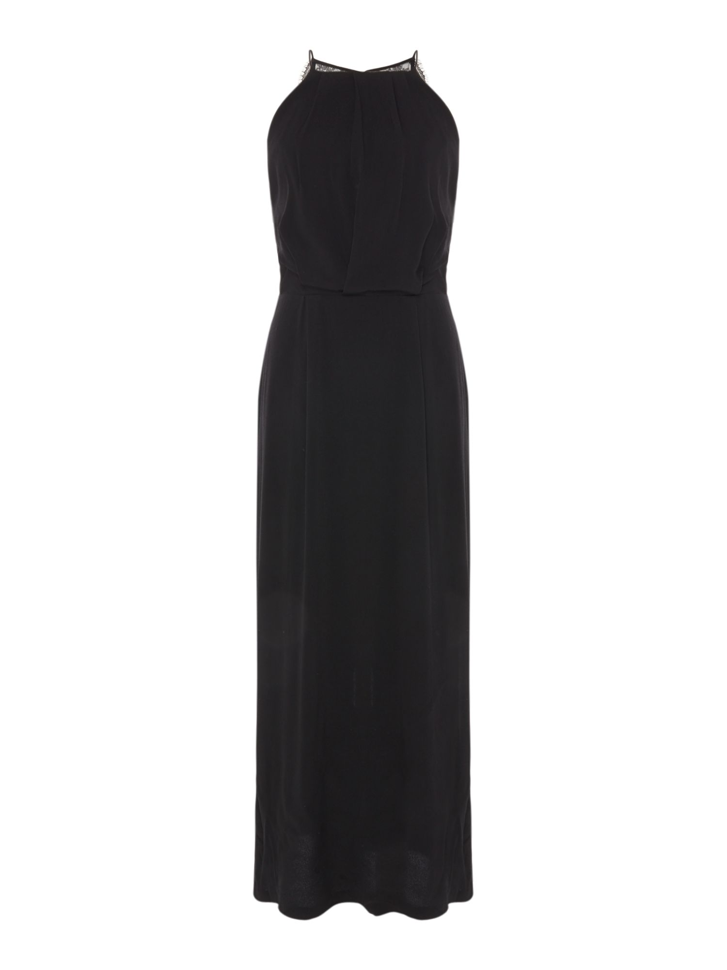 Samsoe and Samsoe Willow lace trim maxi dress, Black