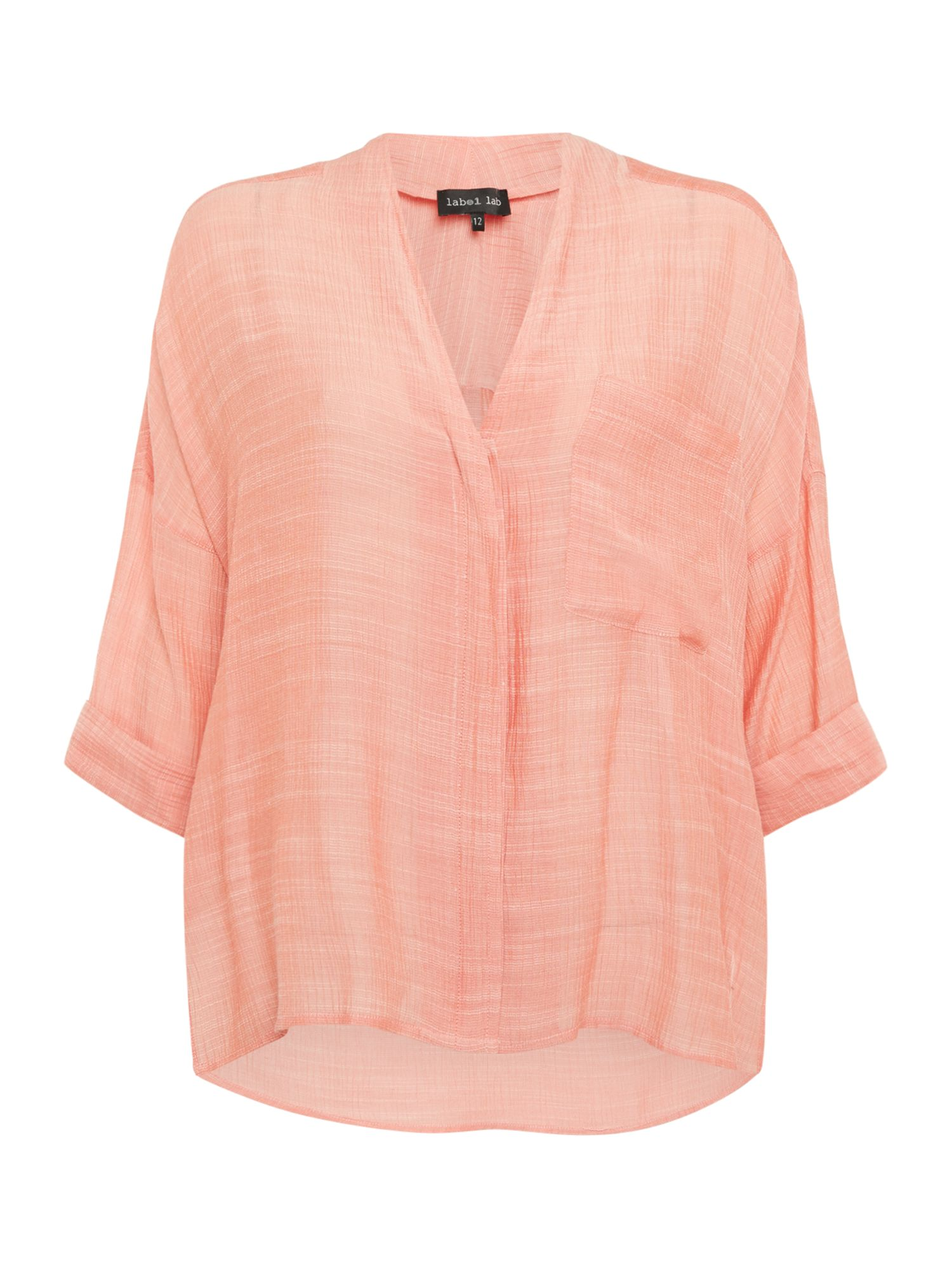 Label Lab Avery button through shirt, Coral