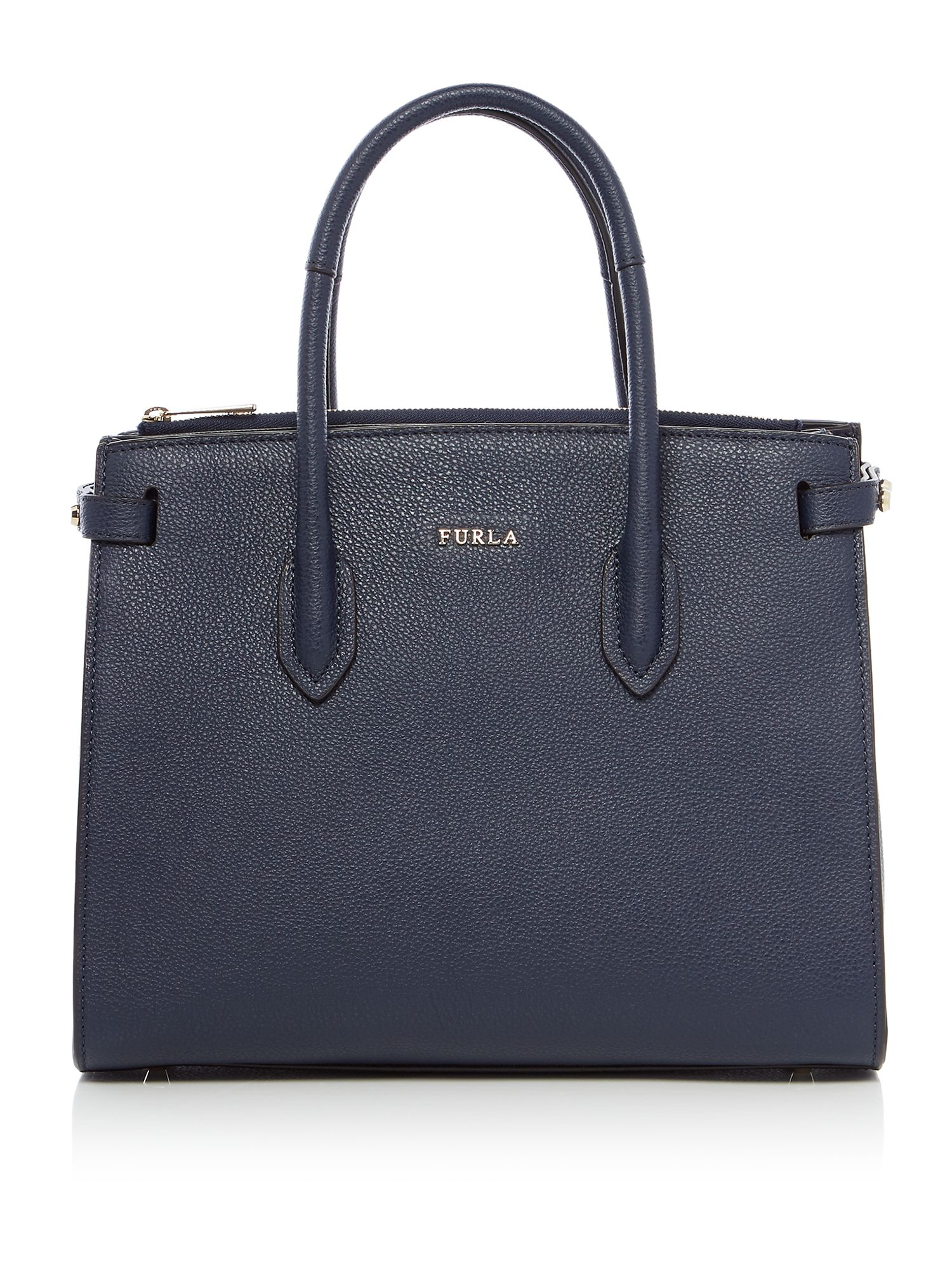 Furla Pin Small East West Tote, Blue