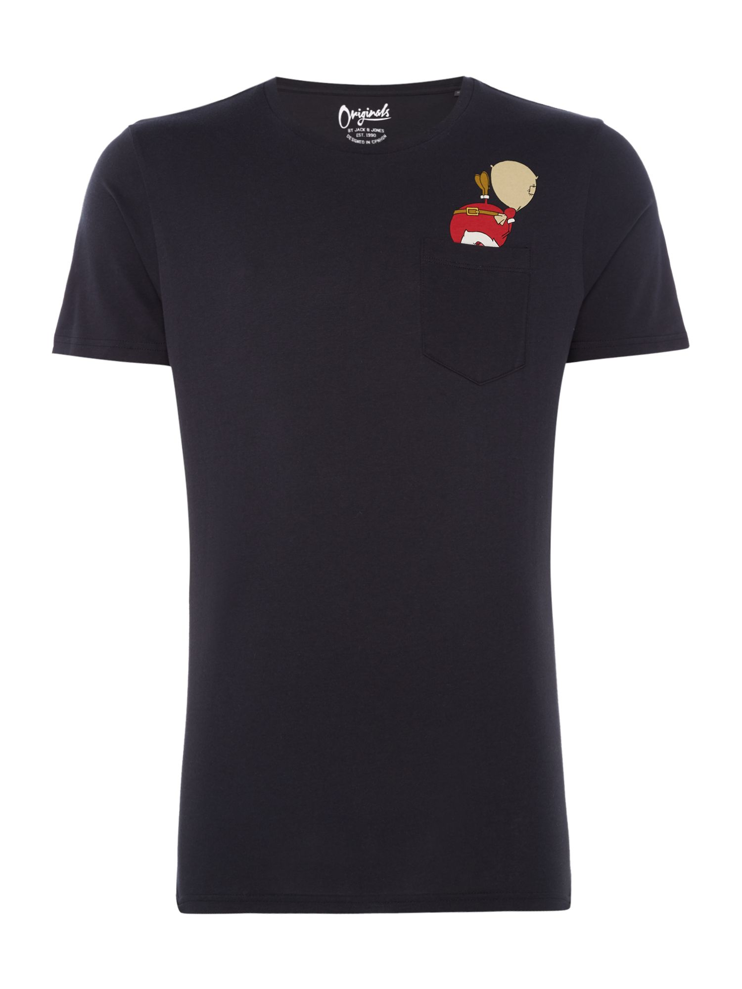Click to view product details and reviews for Mens Jack Jones Chimney Christmas T Shirt Black.