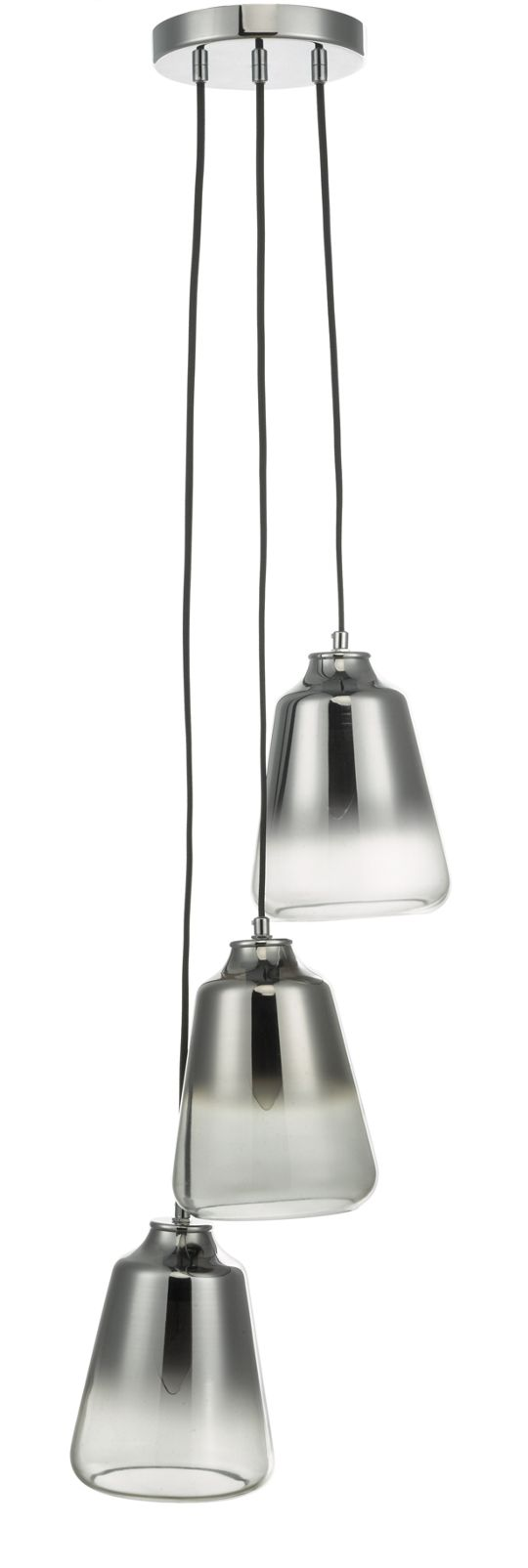 Biba Smoked Glass Multi Pendant