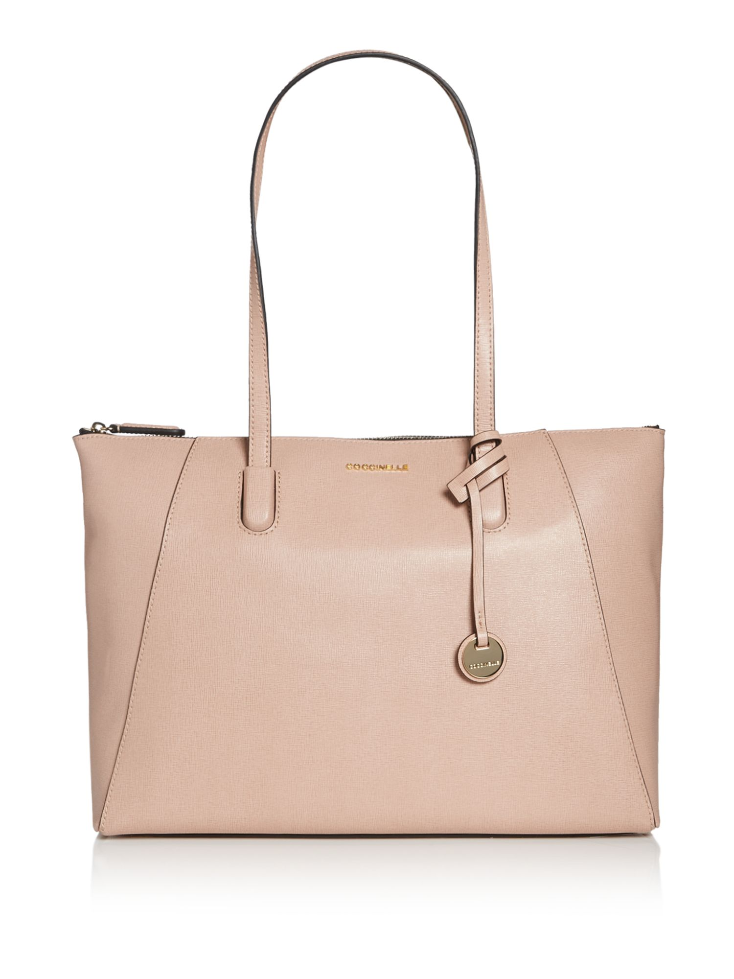 Coccinelle Clementine saffiano east west tote, Pink