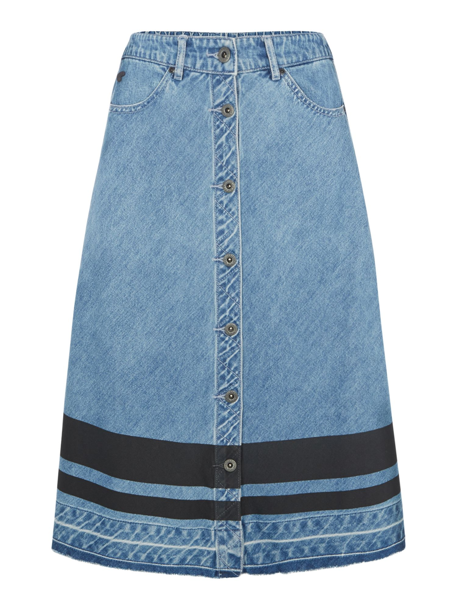 Maison Scotch Button up a line skirt, Blue