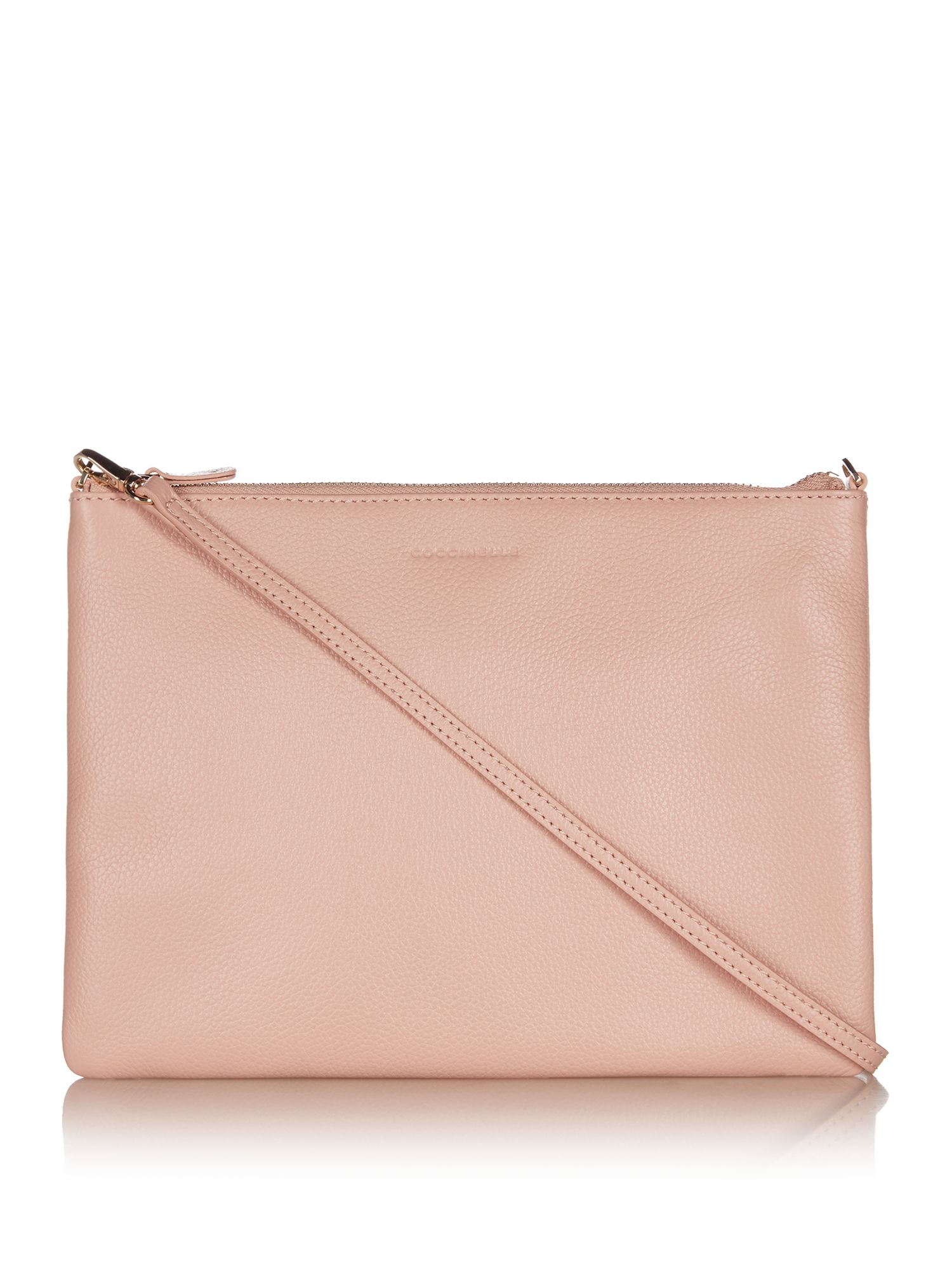 Coccinelle Best soft leather cross body pouchette, Pink