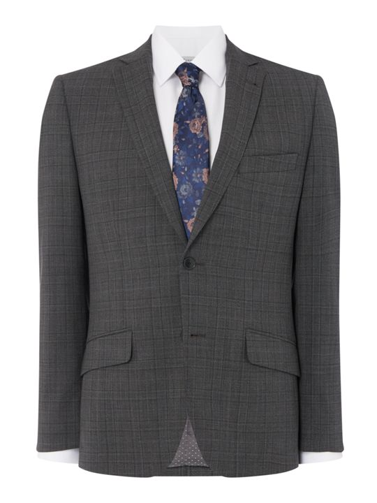 Turner & Sanderson Warner Slim Fit Check Suit Jacket