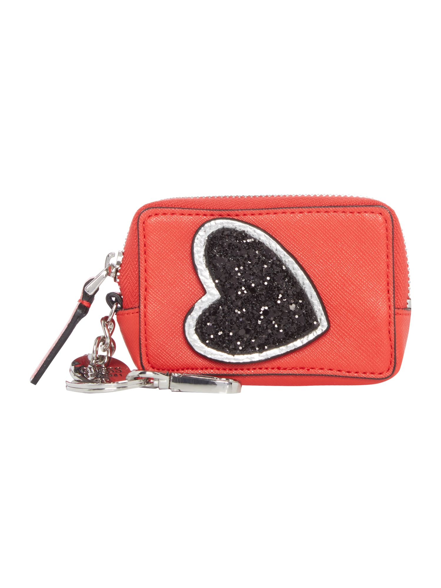 Guess Britta pouch keyring, Red