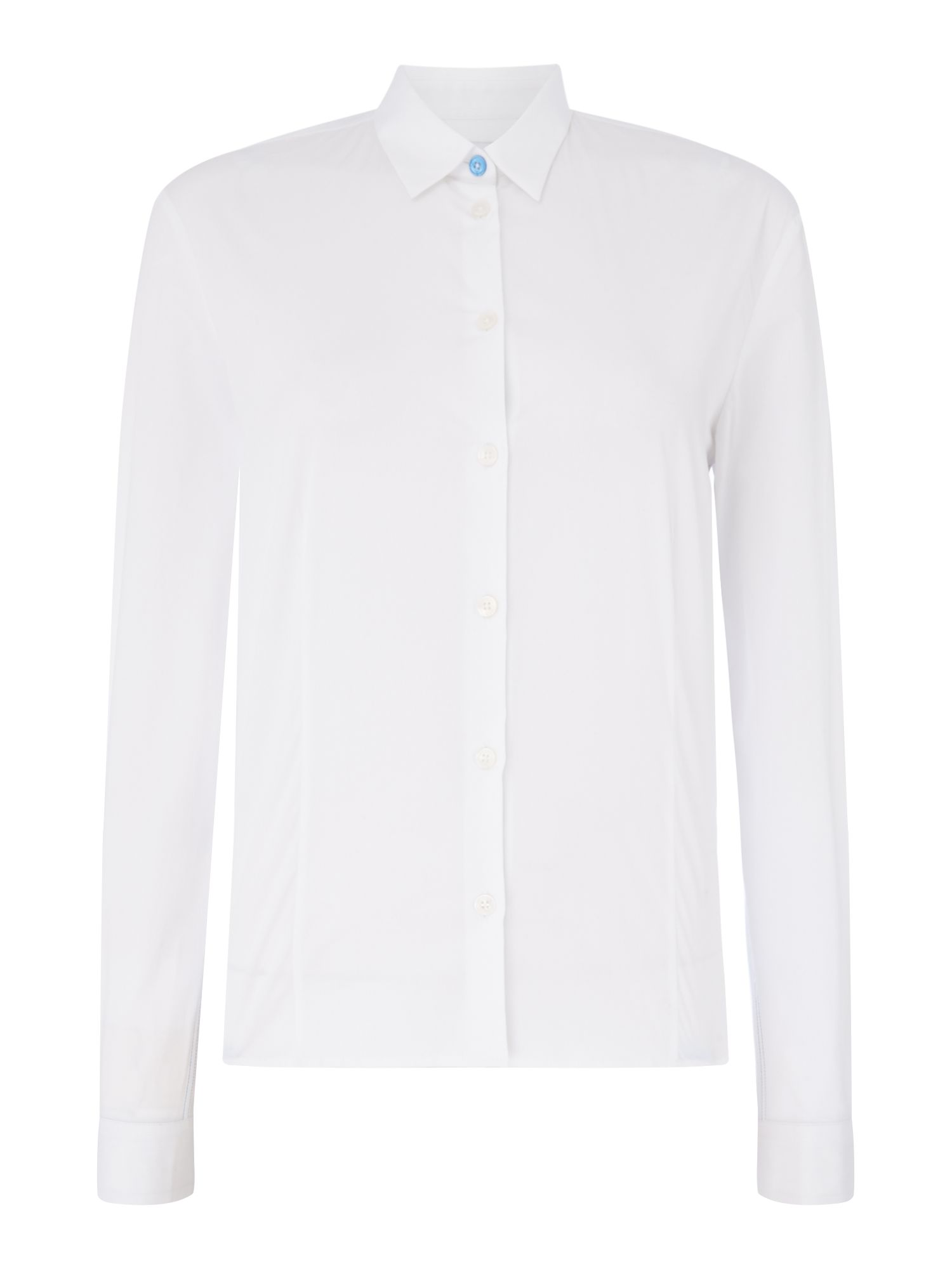 PS By Paul Smith Cat cuff detail fitted shirt, White