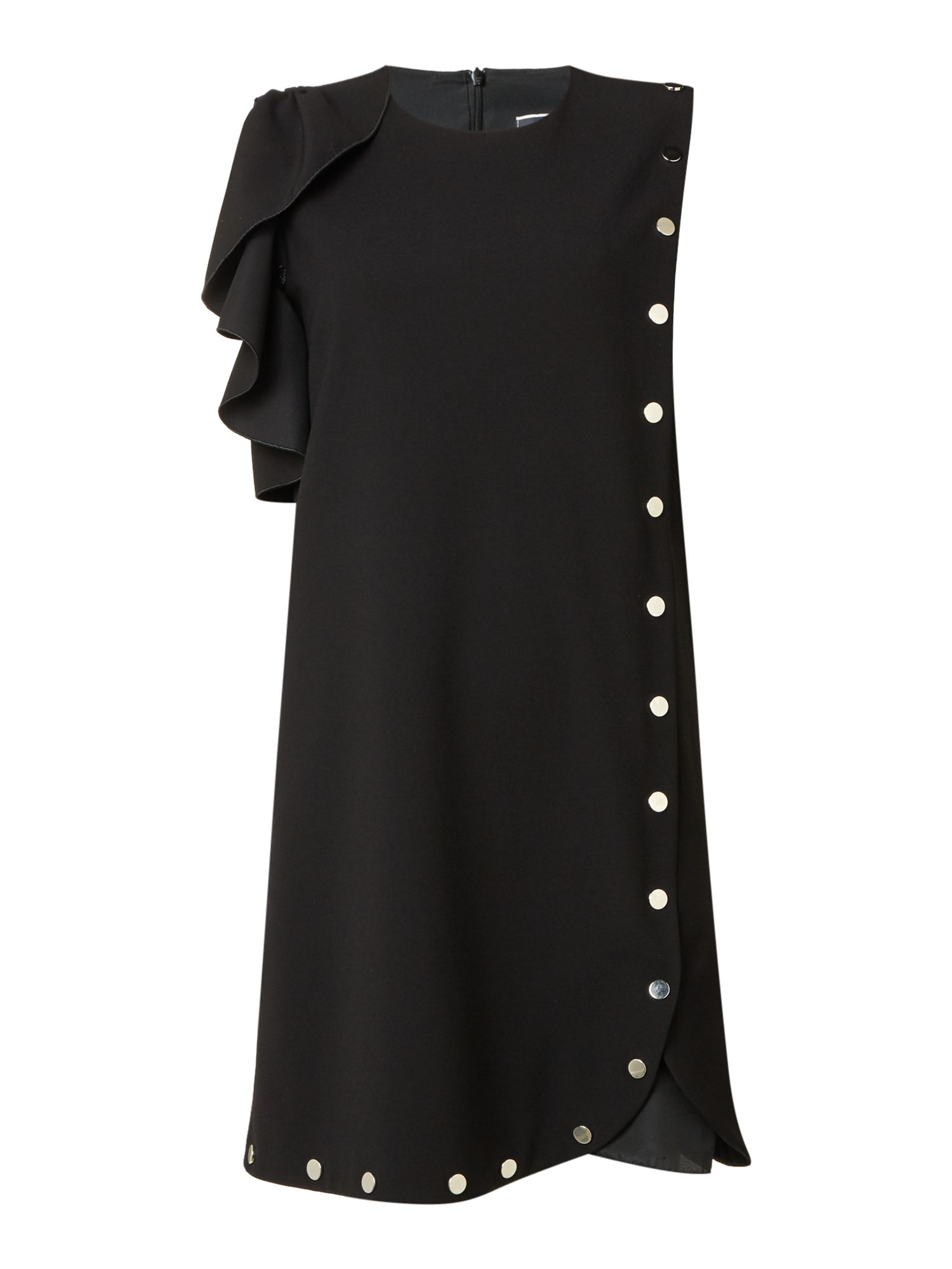 Sportmax Code Eureka dress with poppers and frill, Black