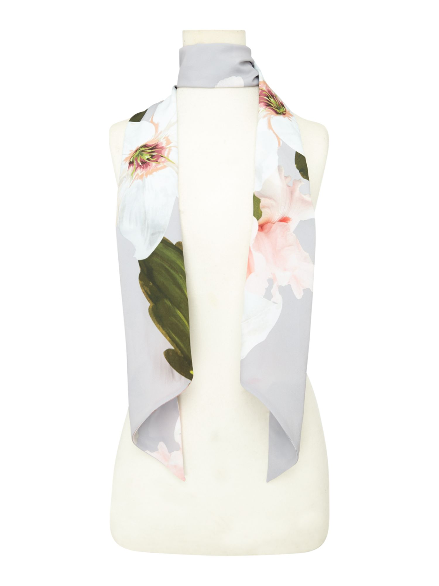 Click to view product details and reviews for Ted Baker Chatsworth Skinny Scarf Grey.