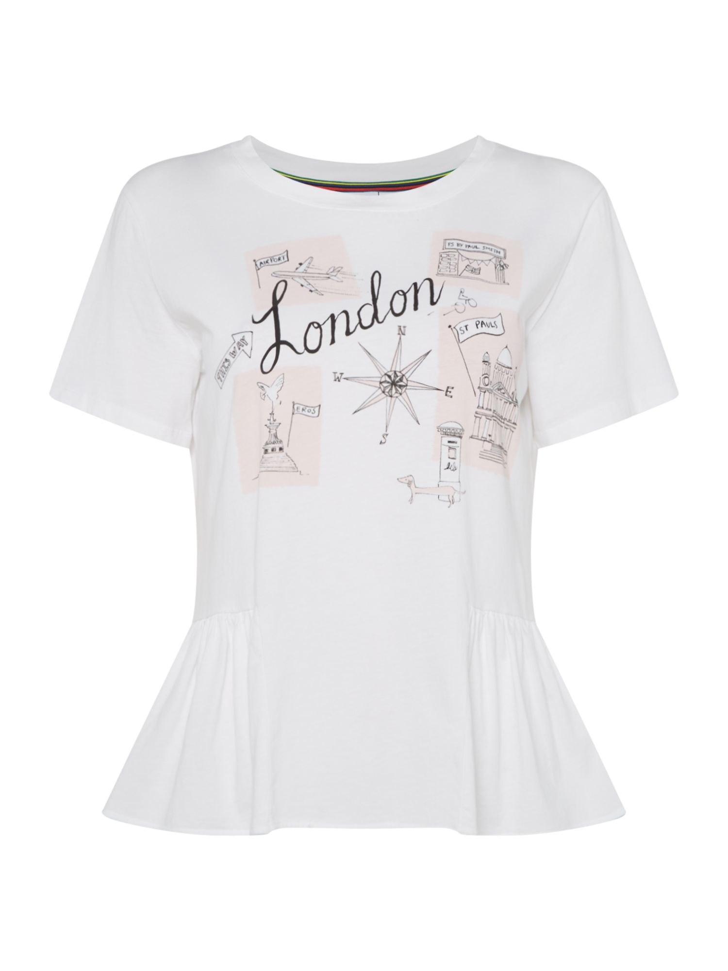 PS By Paul Smith London motif tee, White