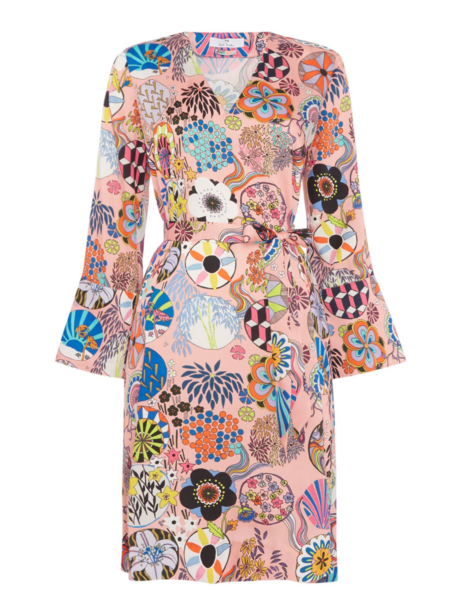 PS By Paul Smith Enso floral tunic dress, Multi-Coloured