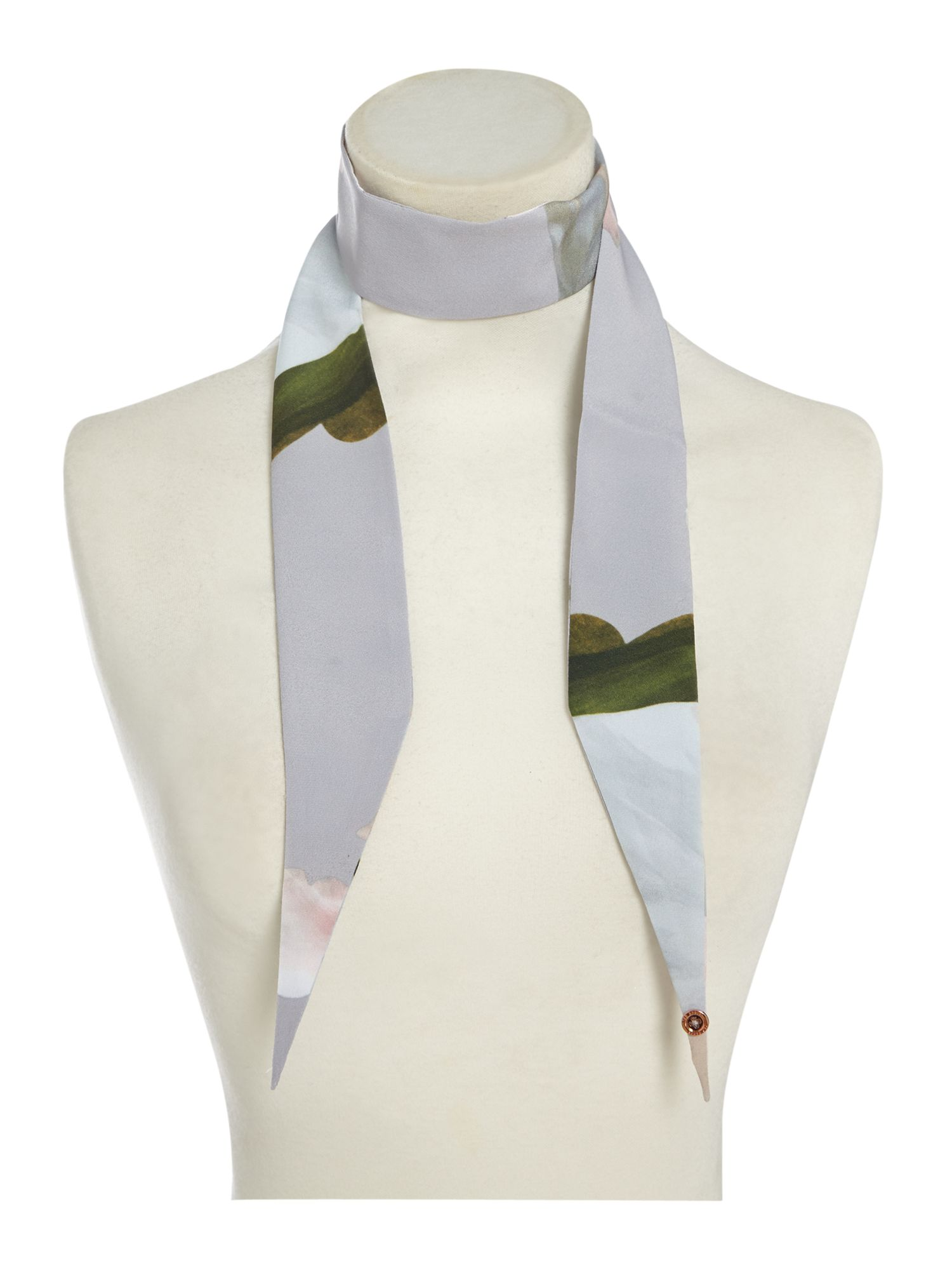 Click to view product details and reviews for Ted Baker Chatsworth Mini Skinny Scarf Grey.