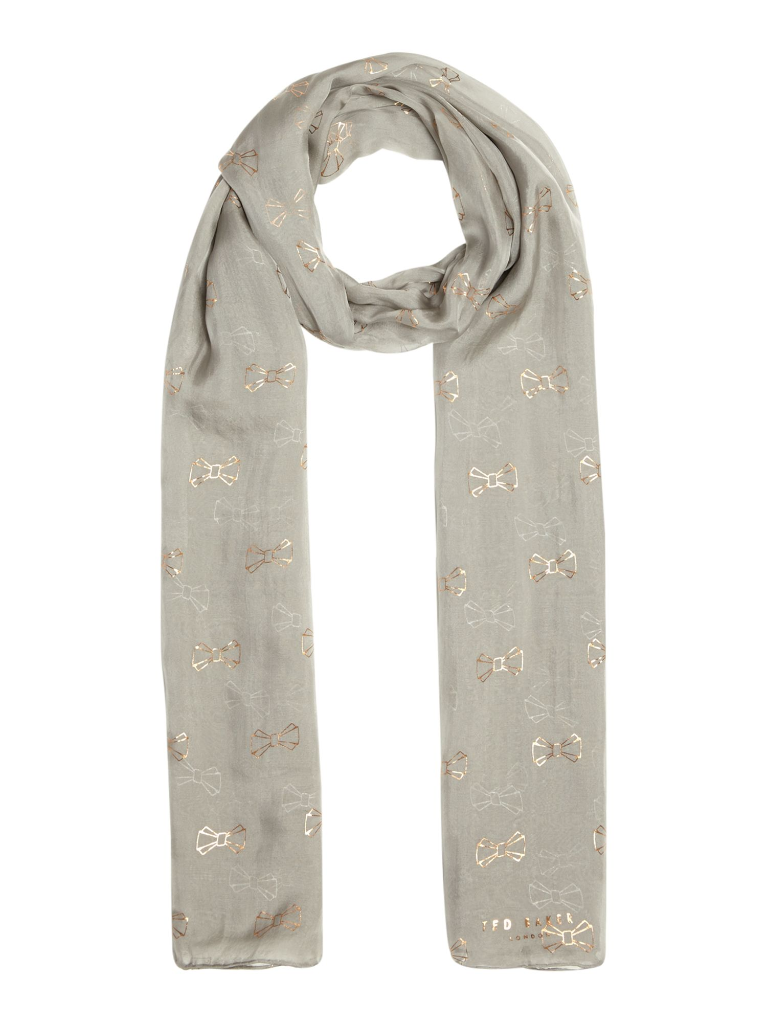 Ted Baker All over bow logo scarf, Grey