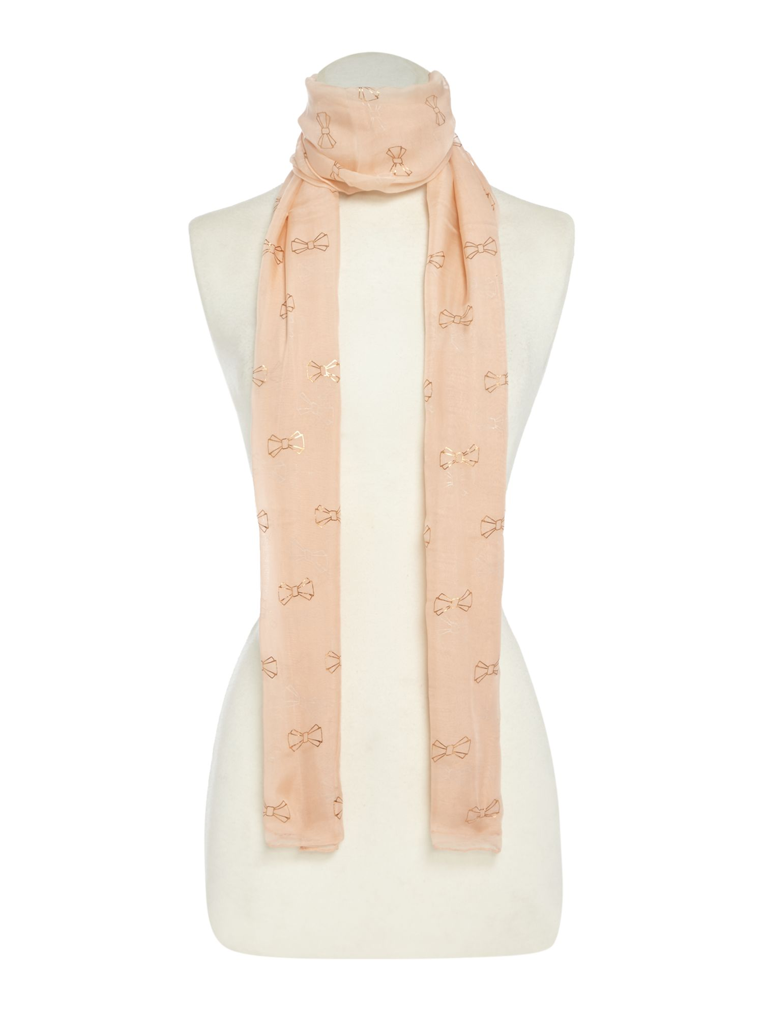 Ted Baker All over bow logo scarf, Nude