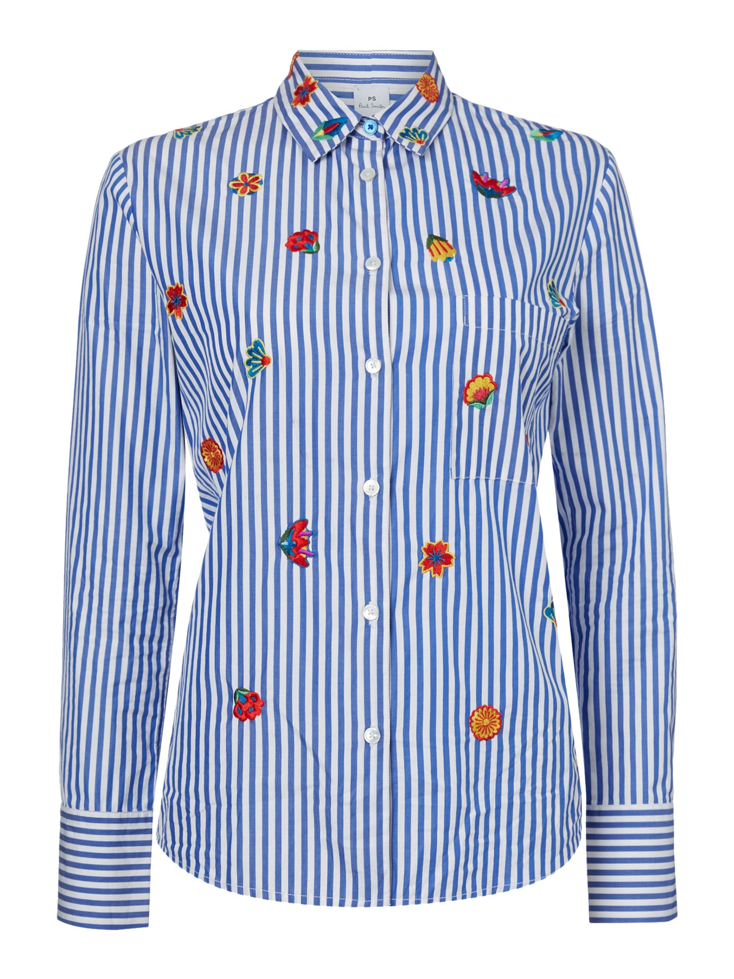 PS By Paul Smith Stripe embroidered shirt, Multi-Coloured