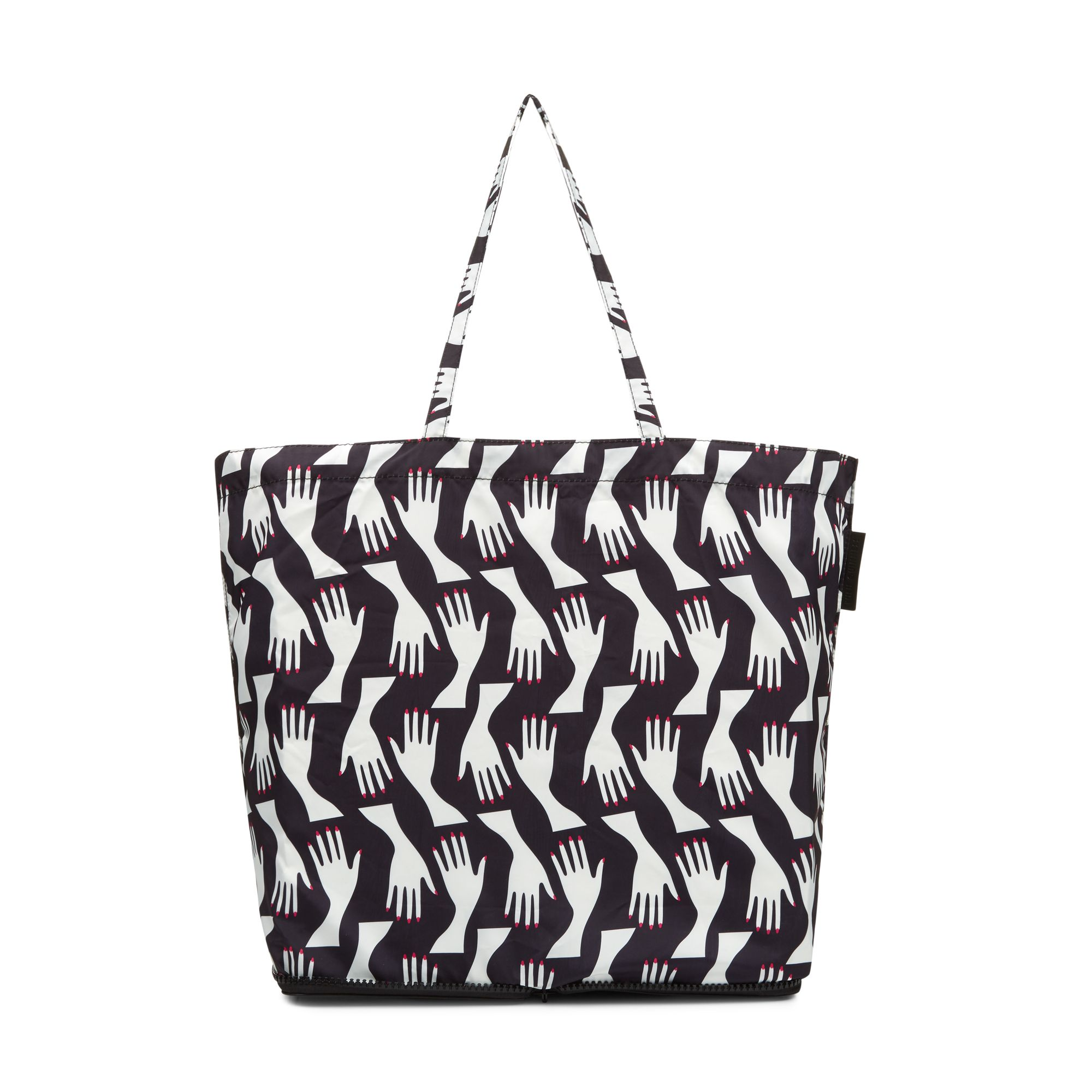 Lulu Guinness Hug print foldaway shopper, Multi-Coloured