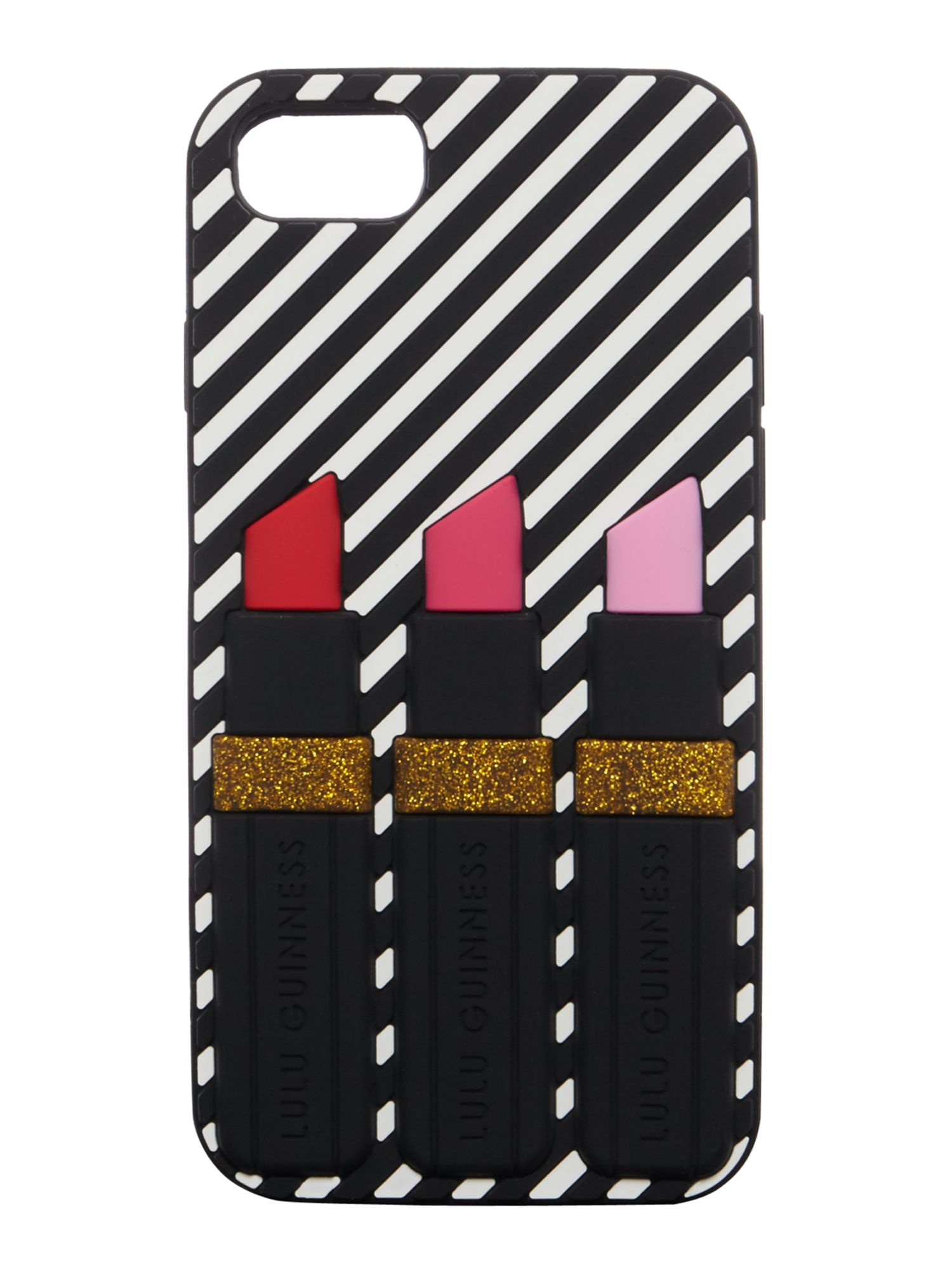 Lulu Guinness Lipstick iphone case, Multi-Coloured