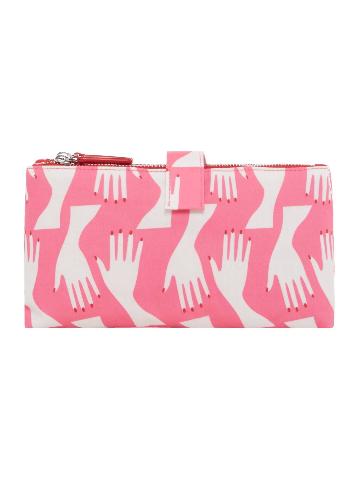 Lulu Guinness Hug Print Double Make Up, Pink