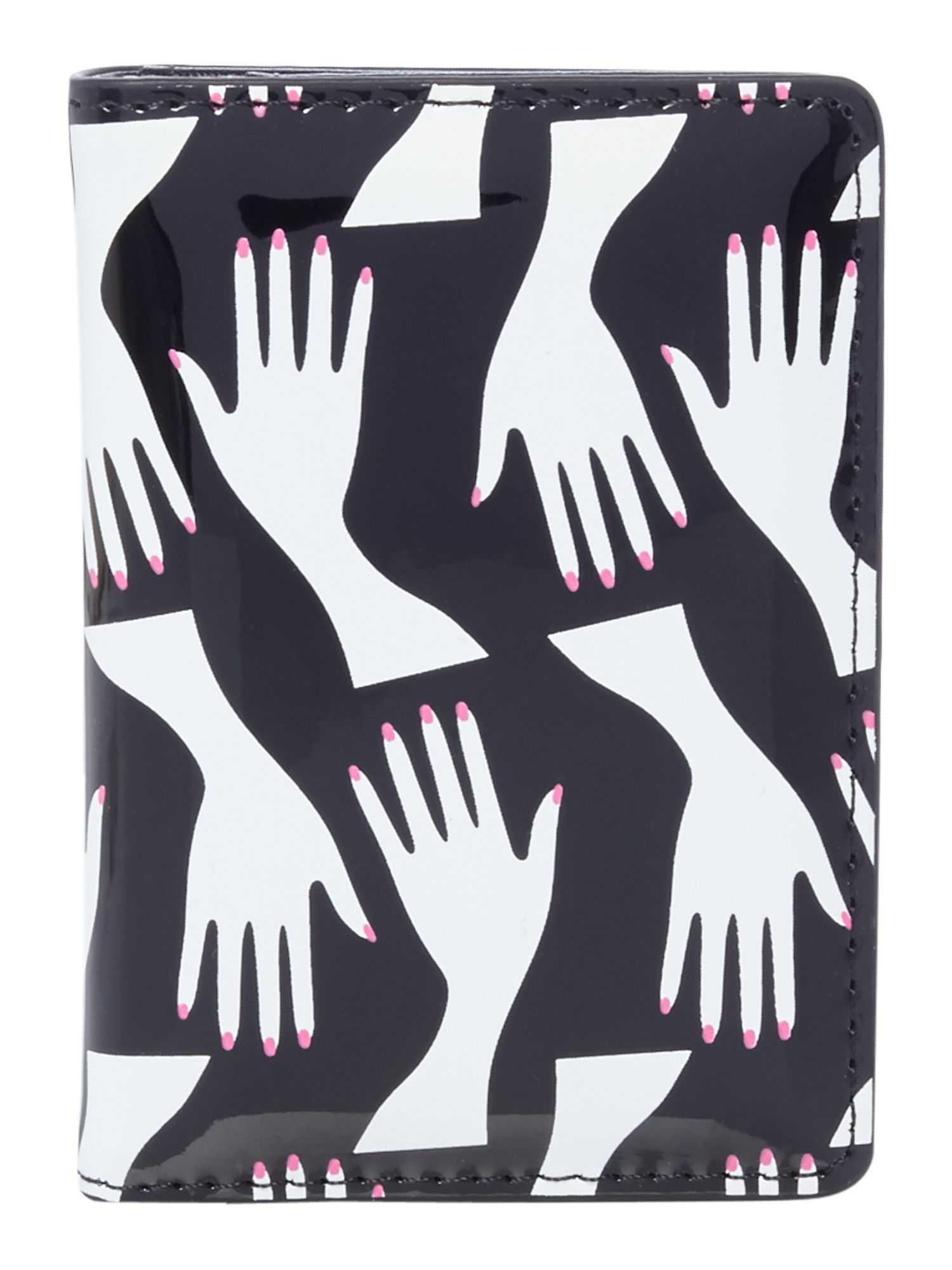 Lulu Guinness Hug print matilda cardholder, Multi-Coloured