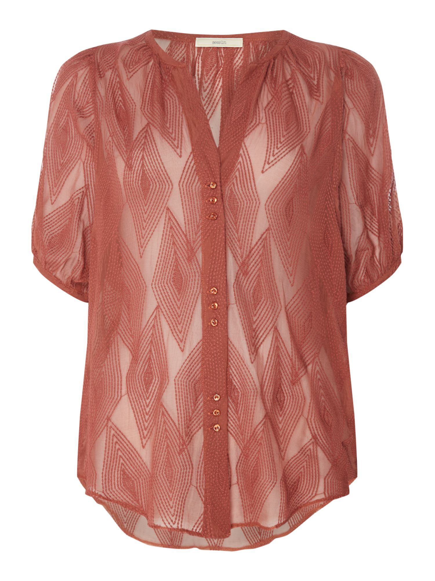Sessun Lelie embroidered blouse, Pink