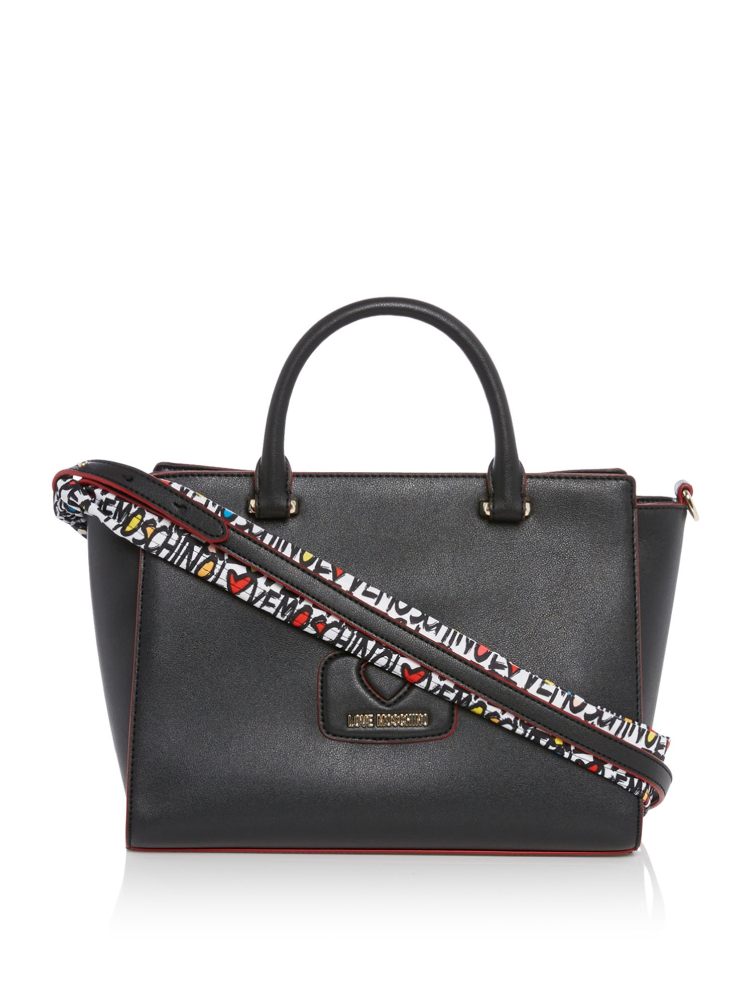 Love Moschino Heart large tote bag, Black