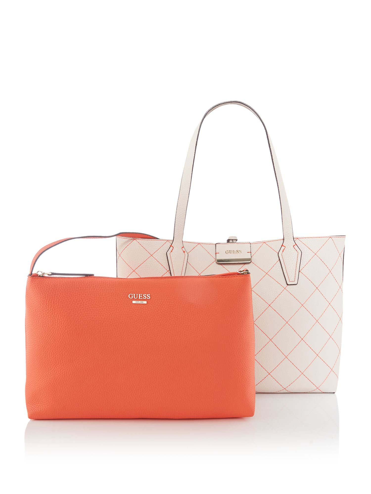 Guess Bobbi inside out tote bag, Neutral