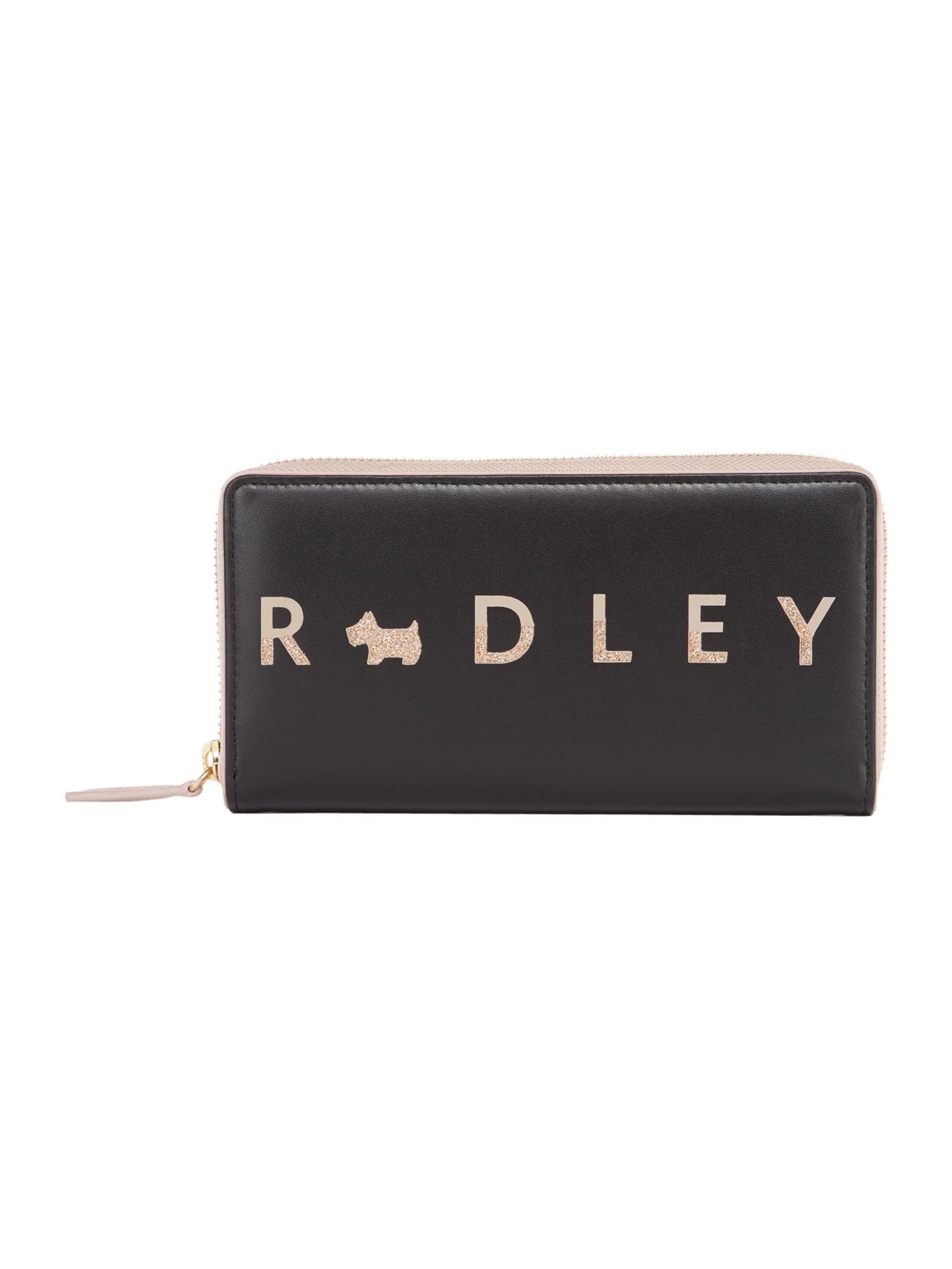 Radley All that glitters large zip around matinee purse, Black