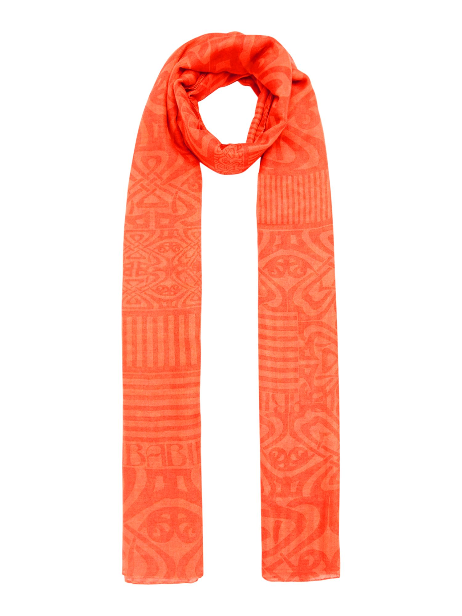 Biba Bridget logo scarf, Orange