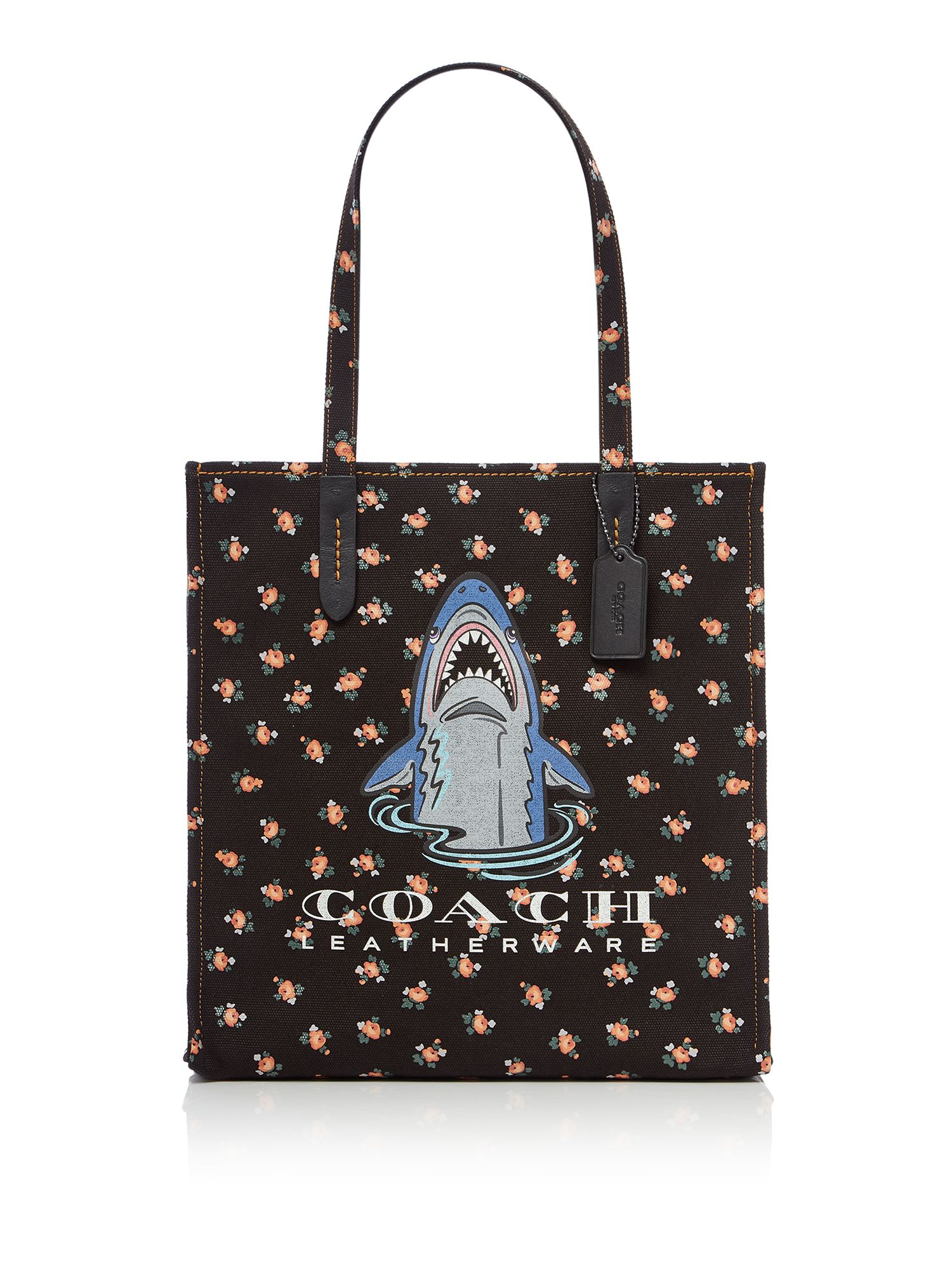 Coach 1941 canvas sharky tote, Black