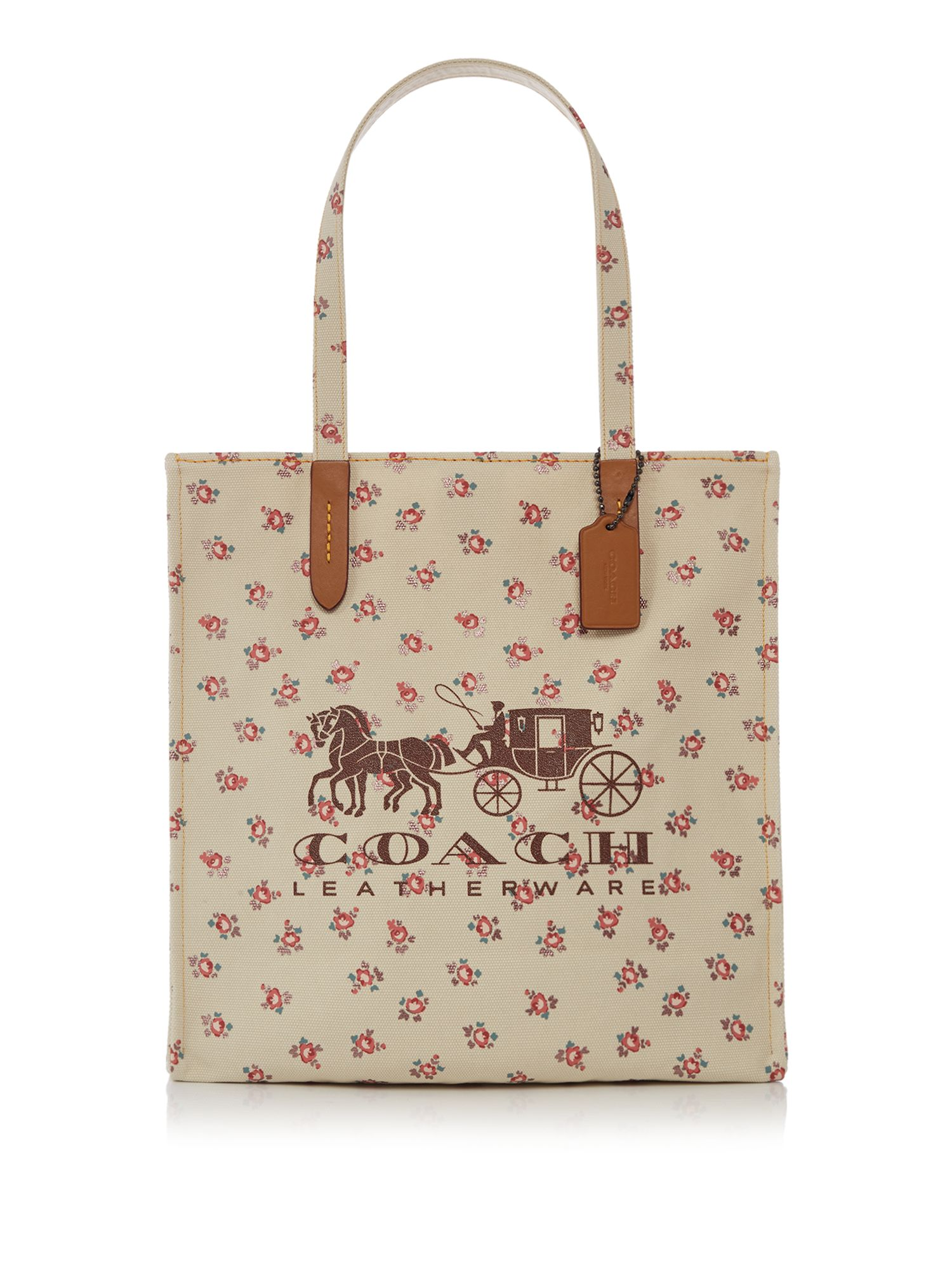 Coach 1941 canvas horse and carriage tote, Neutral