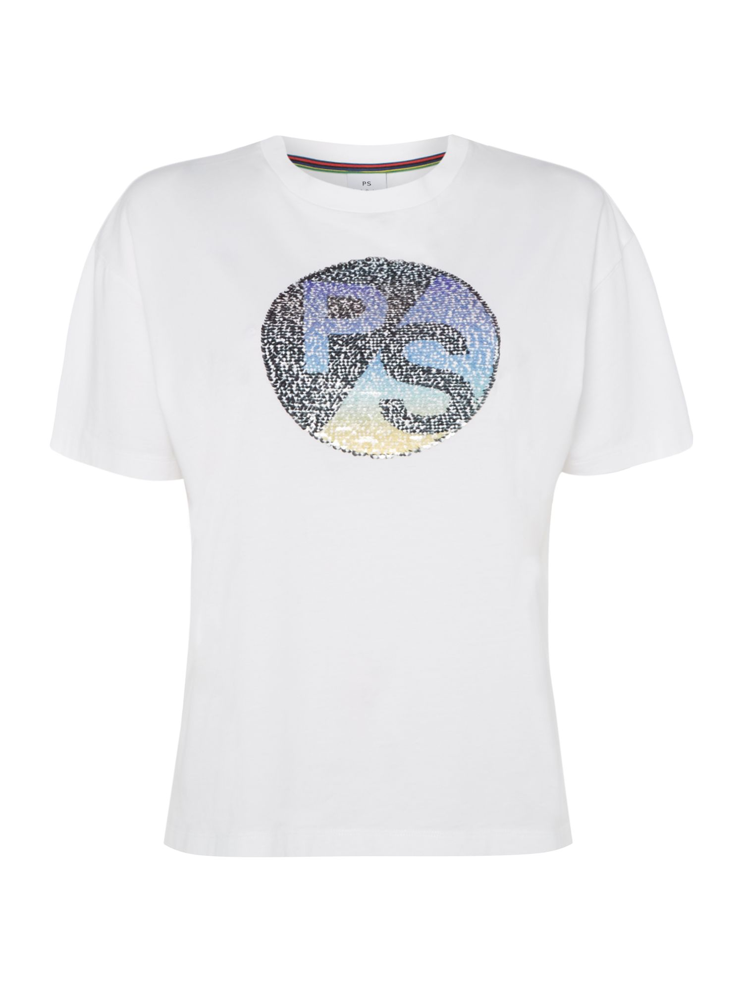 PS By Paul Smith PS sequin detail top, White