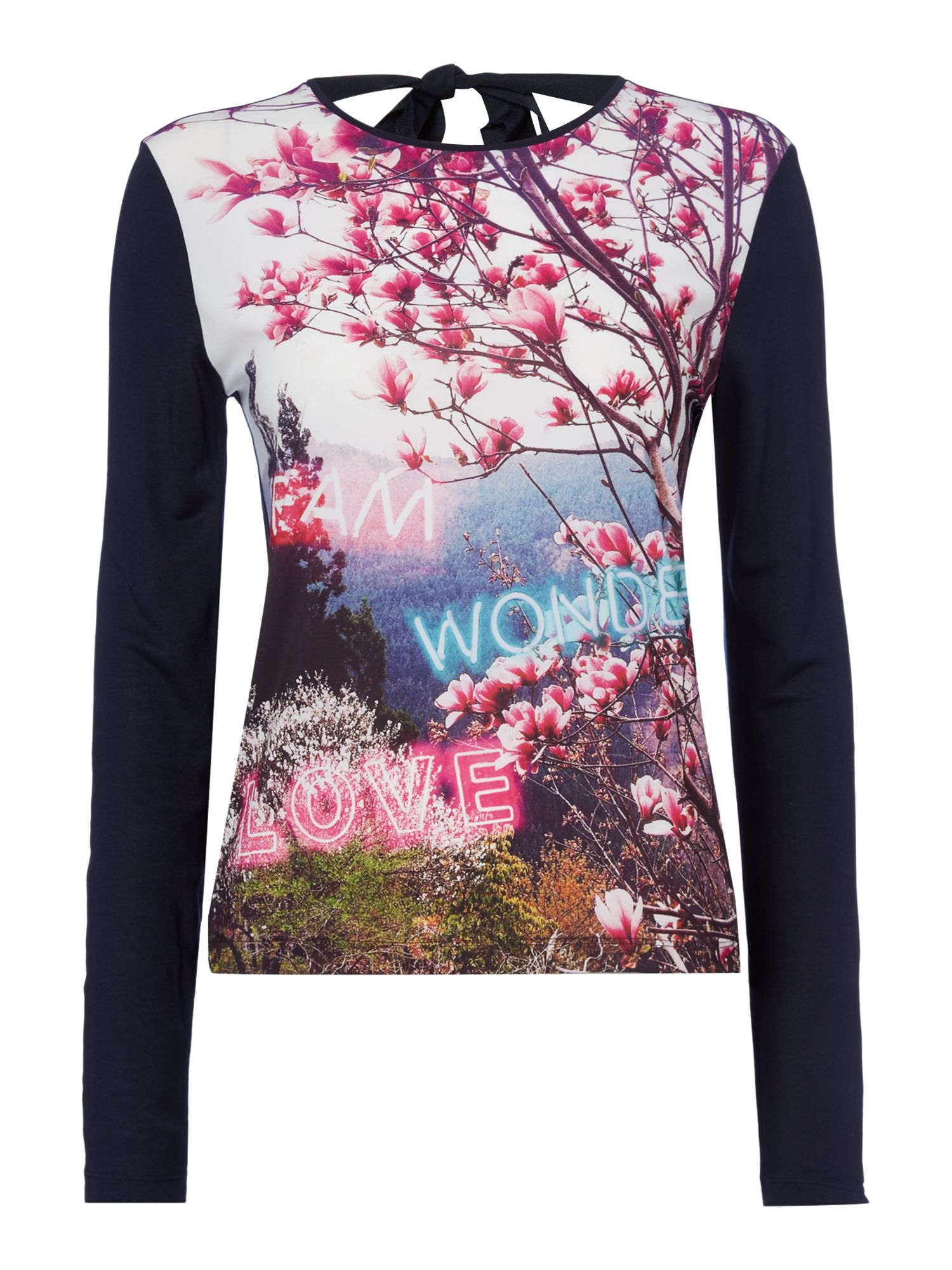 PS By Paul Smith Long sleeve dream wonder top, Multi-Coloured