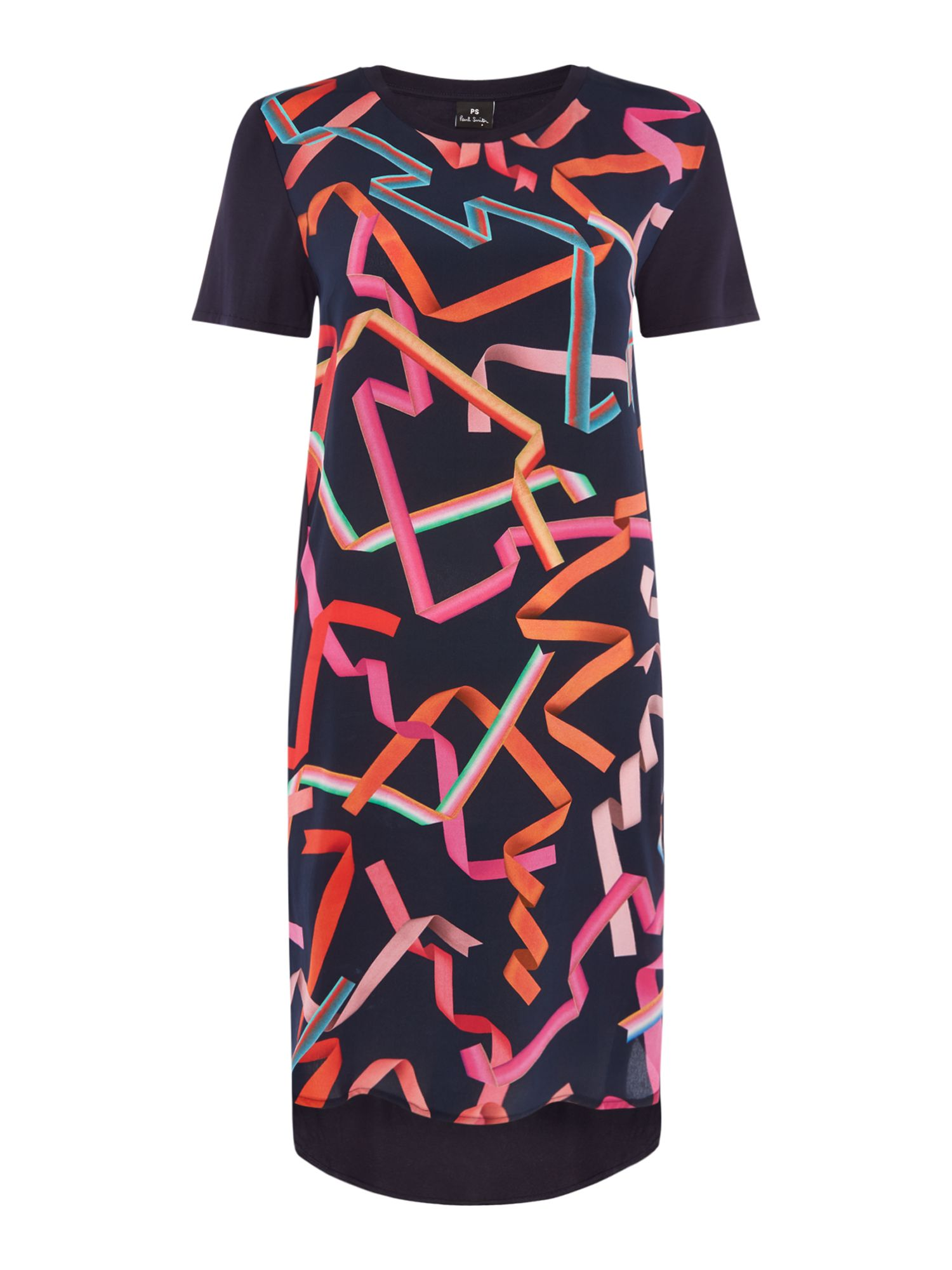 PS By Paul Smith Ribbon t shirt dress, Blue