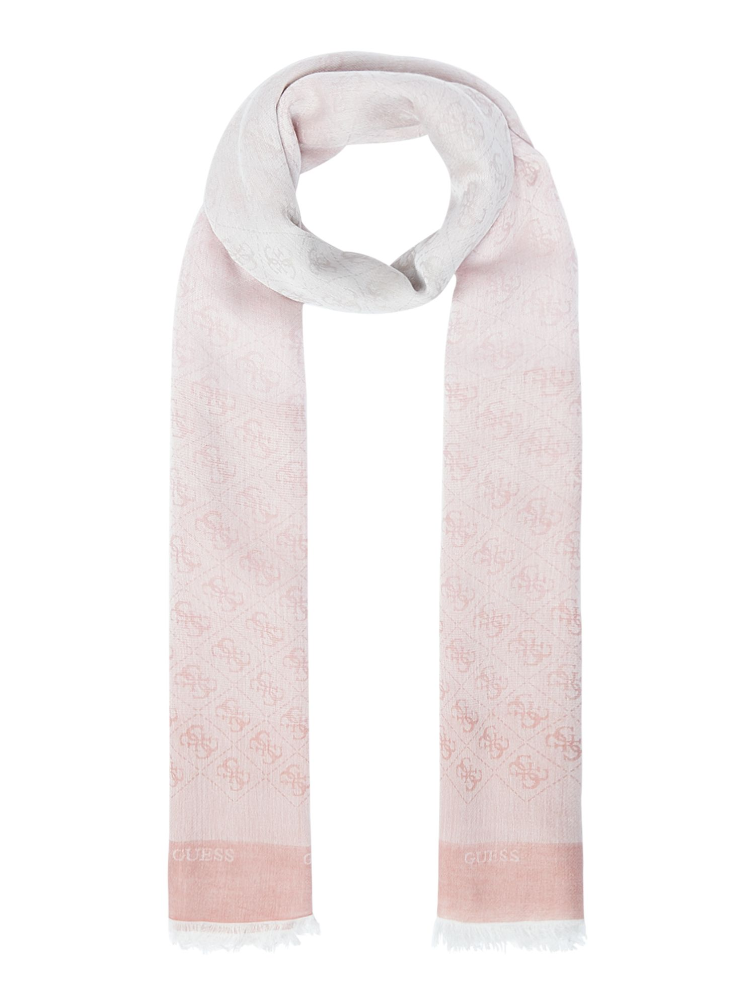 Guess All over g logo long scarf, Pink
