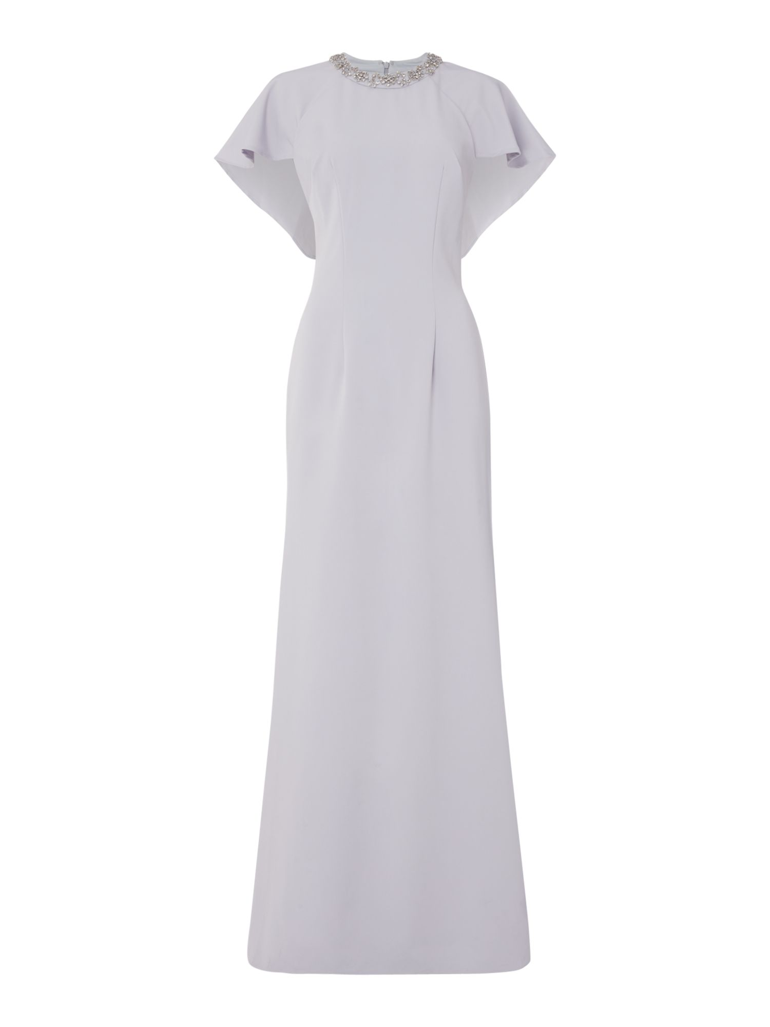 JS Collections High neck gown, Silver