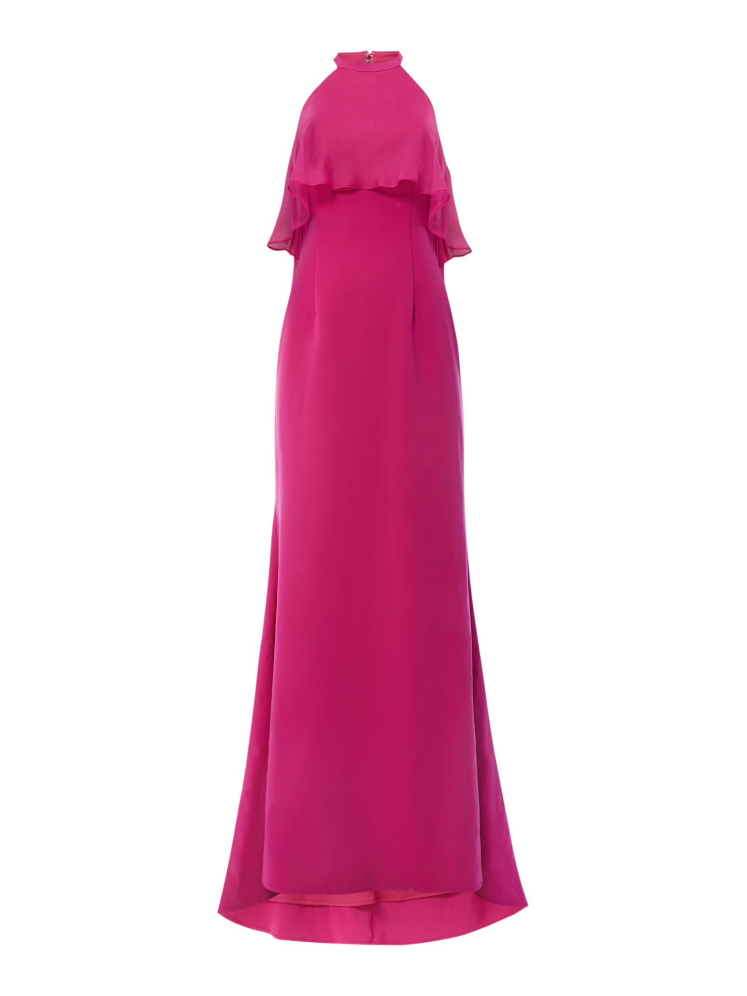 JS Collections Ruffle gown, Pink