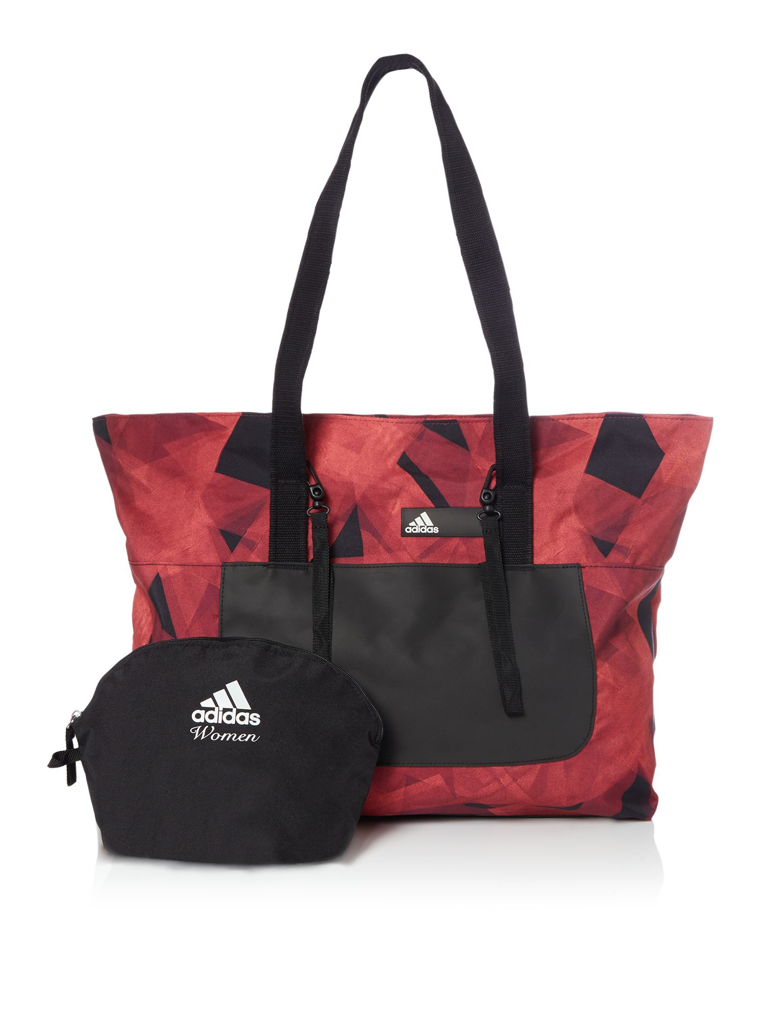 Adidas Patterned tote bag with pouch, Red