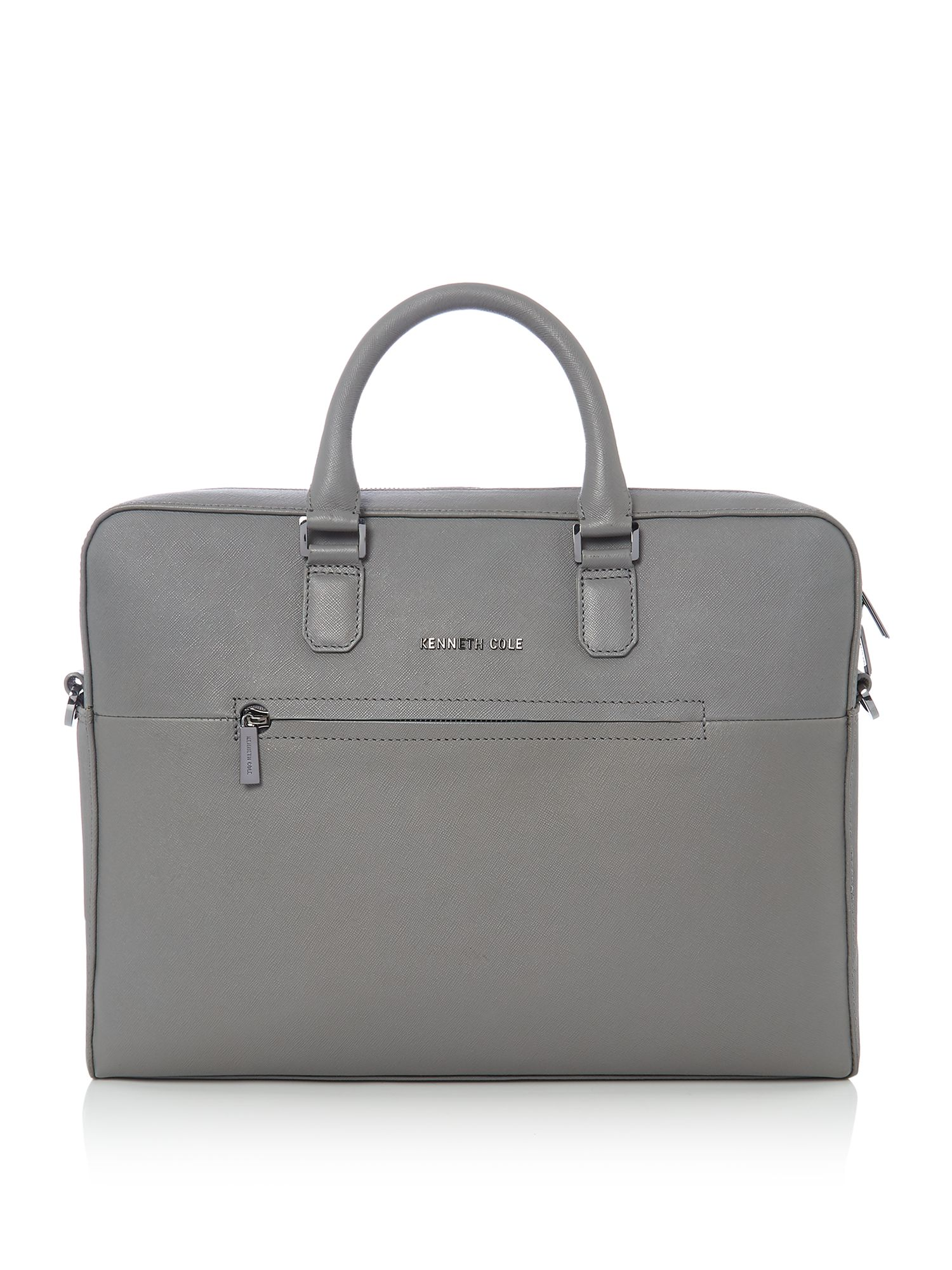 Kenneth Cole Saffiano Leather Laptop Bag, Grey