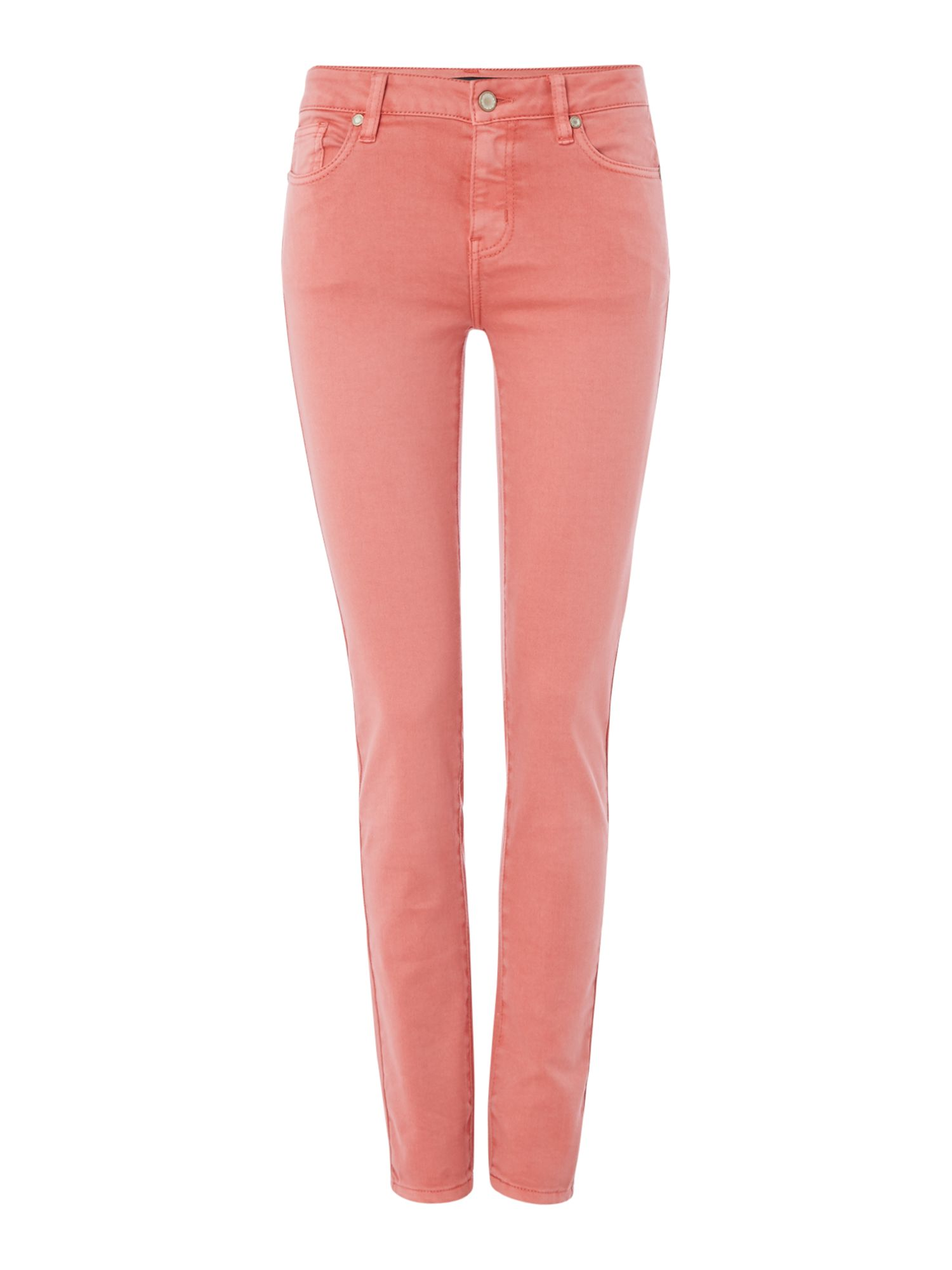 Repeat Cashmere Skinny jeans, Coral