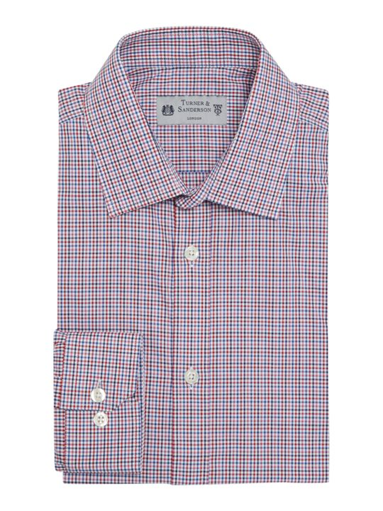 Turner & Sanderson Pollock Slim Fit Micro Check Shirt