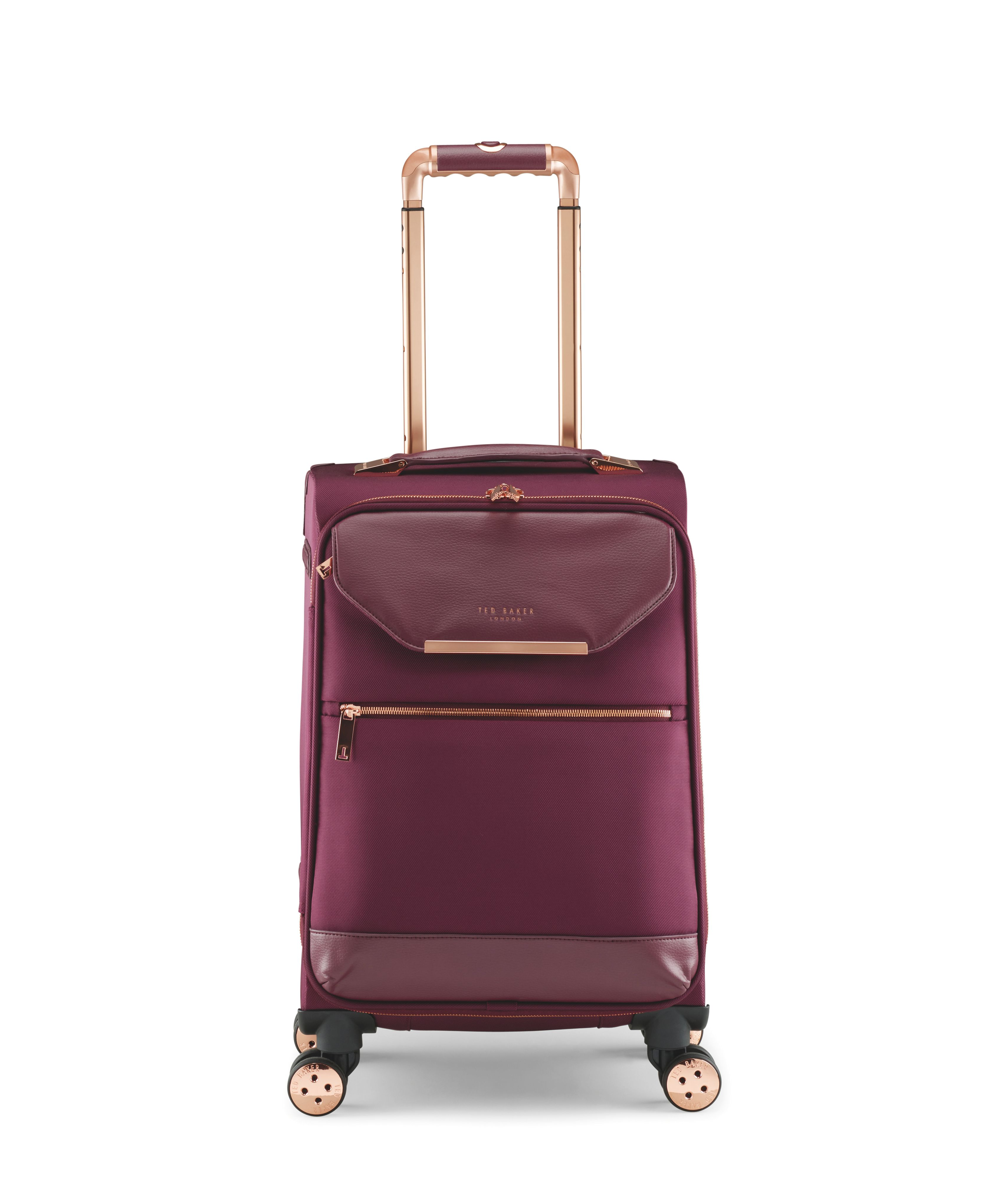 Ted Baker ALBANY BURGUNDY 4 WHEEL SOFT CABIN SUITC, Red
