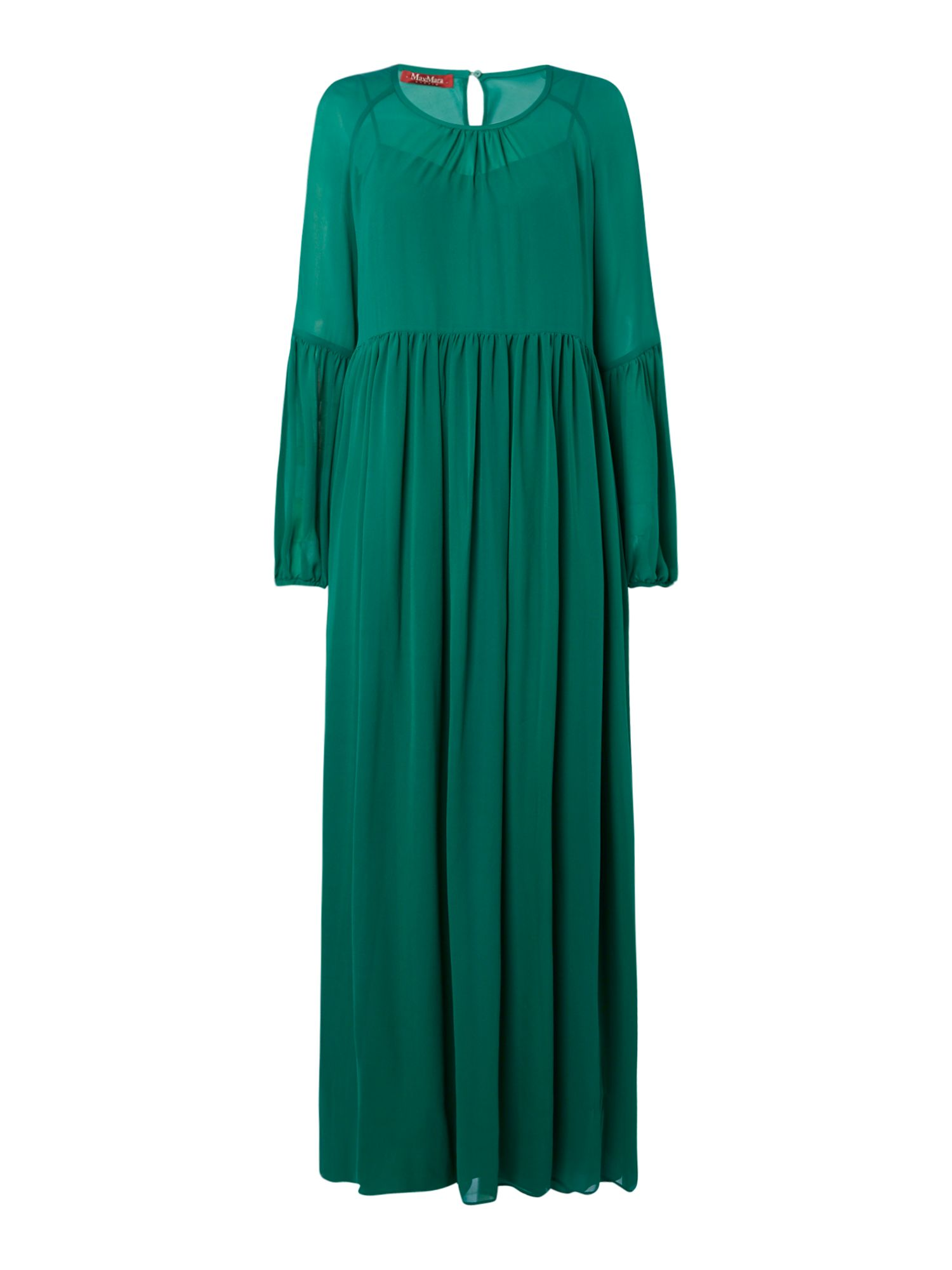 Max Mara Studio Novara lightweight maxi dress, Emerald