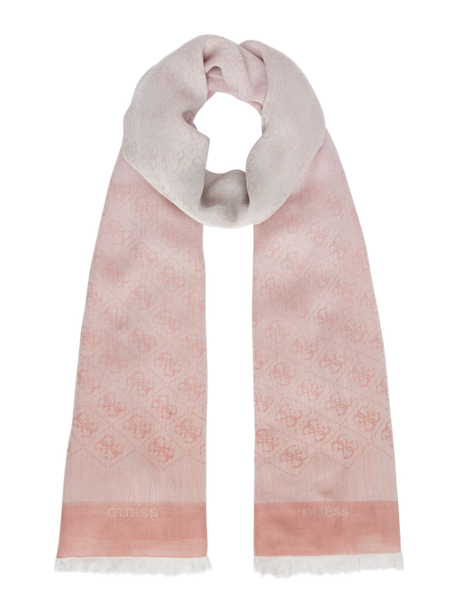 Guess All over logo jacqui scarf, Rose