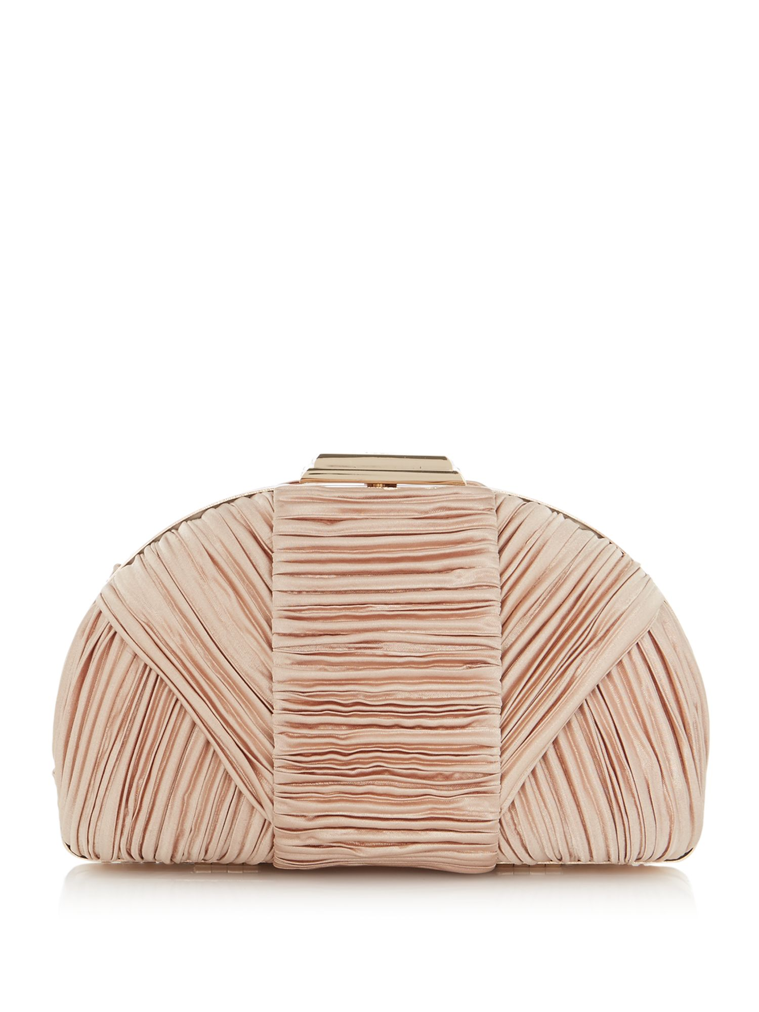 ISSA Cara dome pleated clutch, Gold